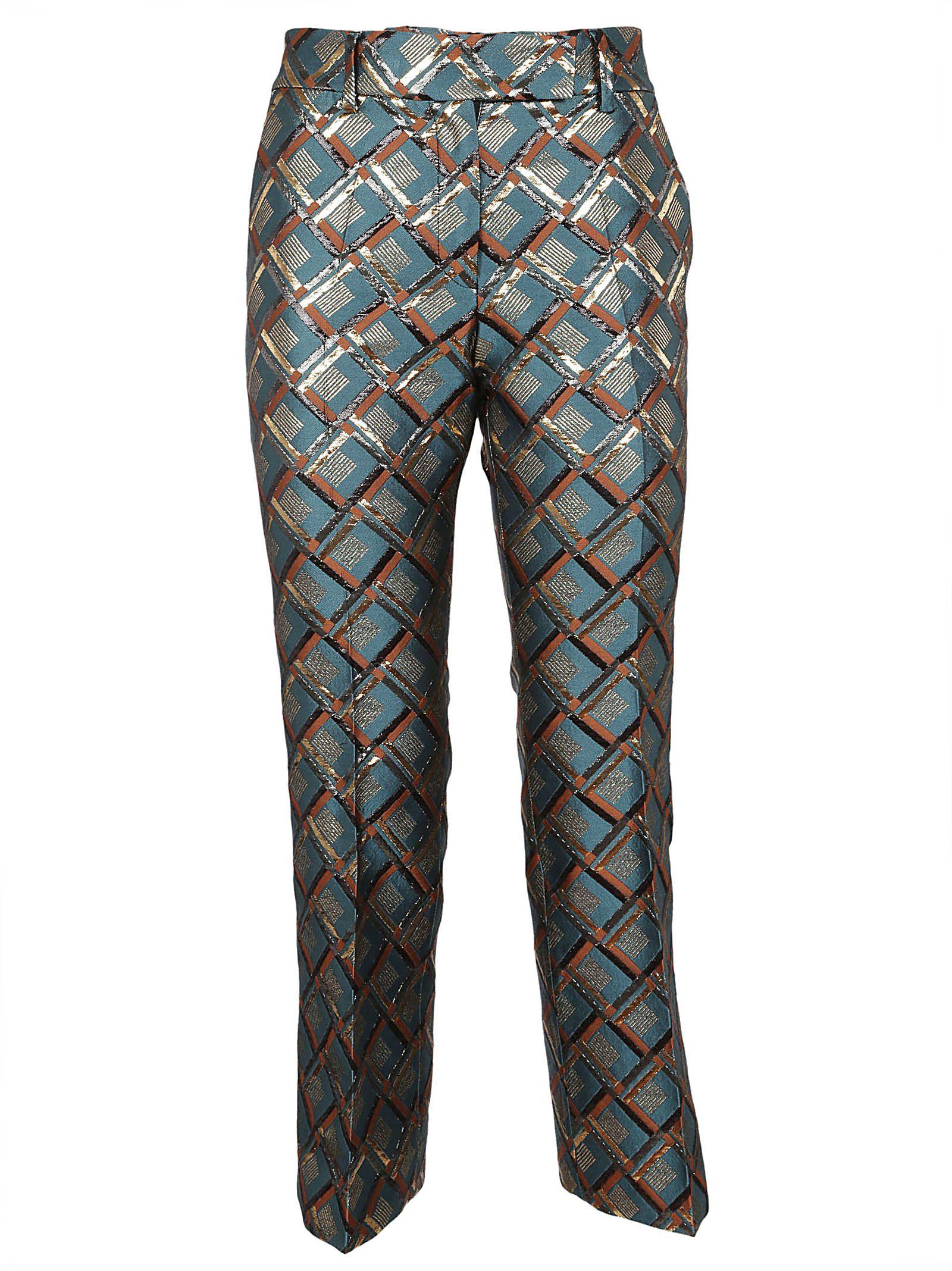 TRUE ROYAL Patterned Trousers in Verde