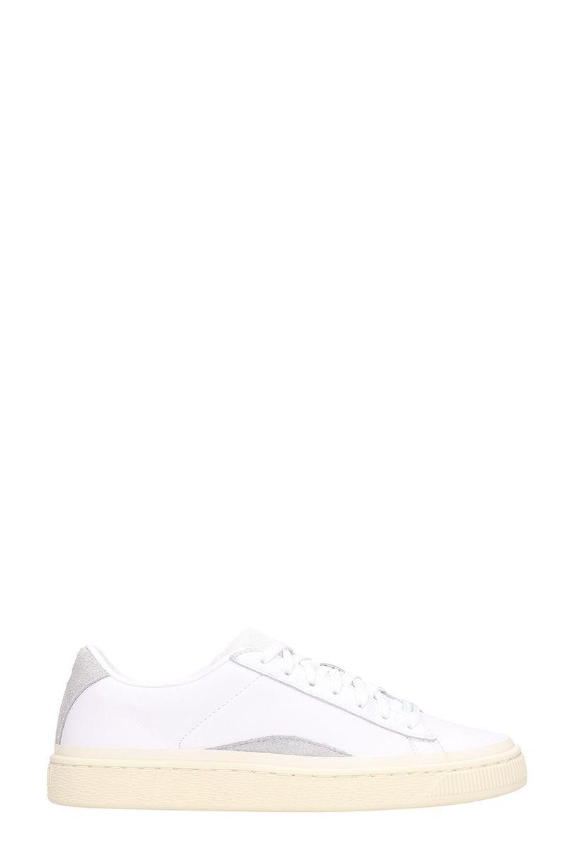 PUMA X HAN KJOBENHAVN Basket White Leather Sneakers