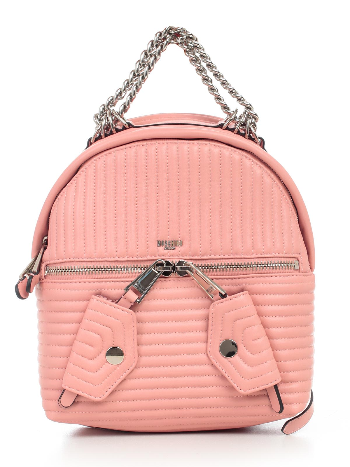 moschino -  Quilted Chain Trim Backpack