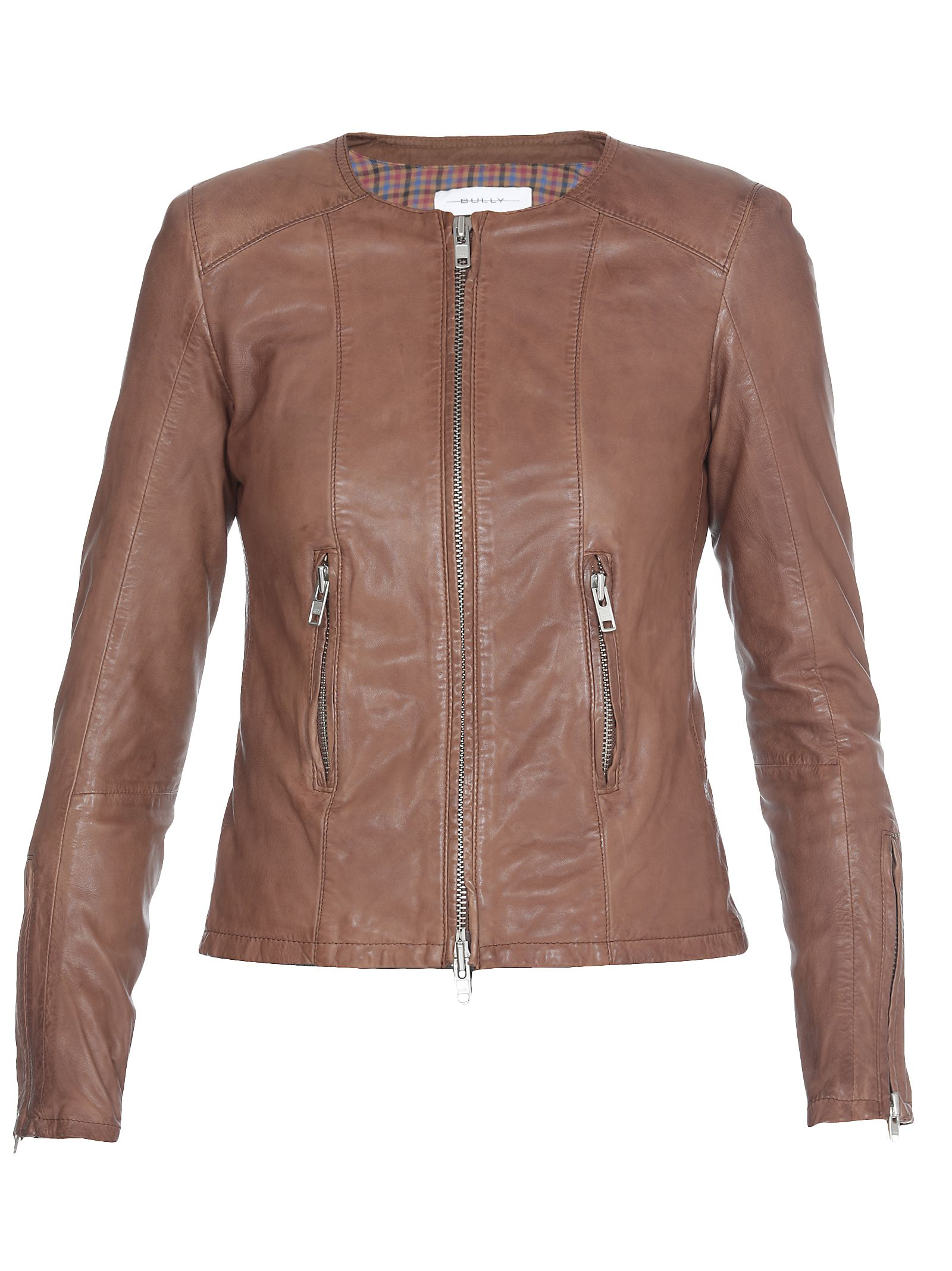 BULLY Leather Jacket in Cuoio