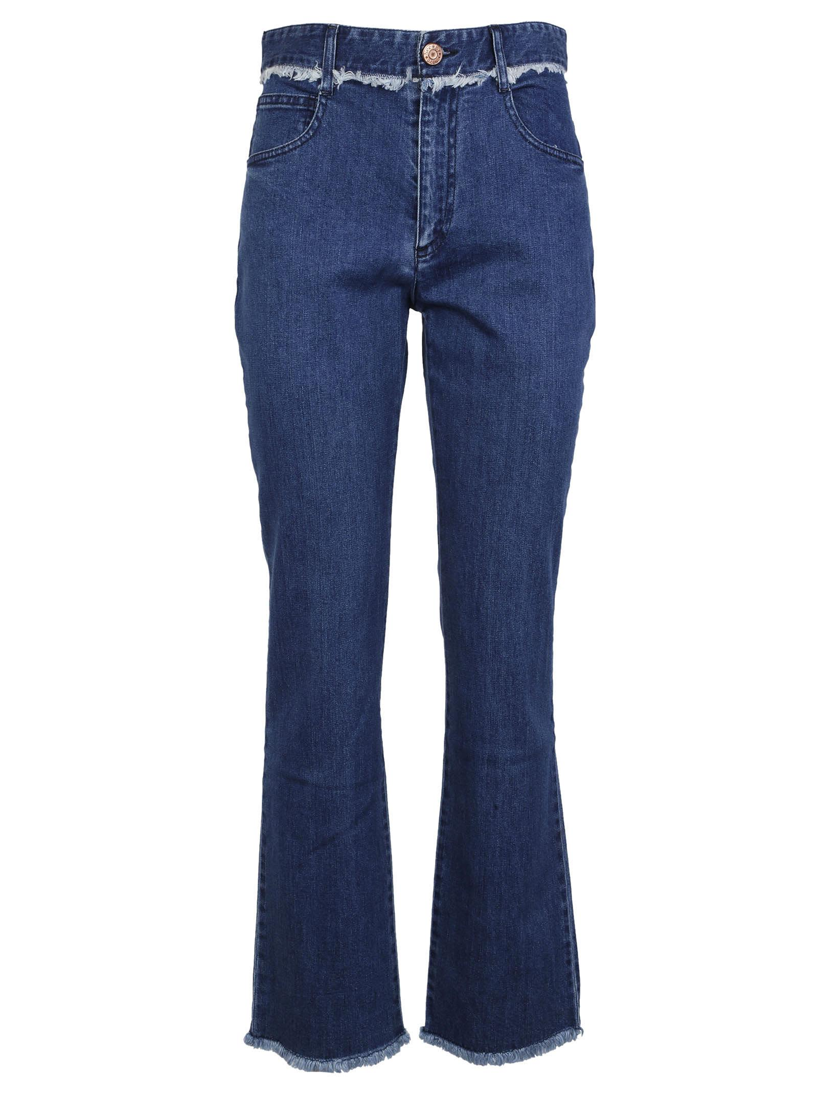 frayed trim jeans - Blue See By Chloé Free Shipping Low Shipping Cheap Amazon Free Shipping Pre Order Clearance 100% Authentic K1rVa5s