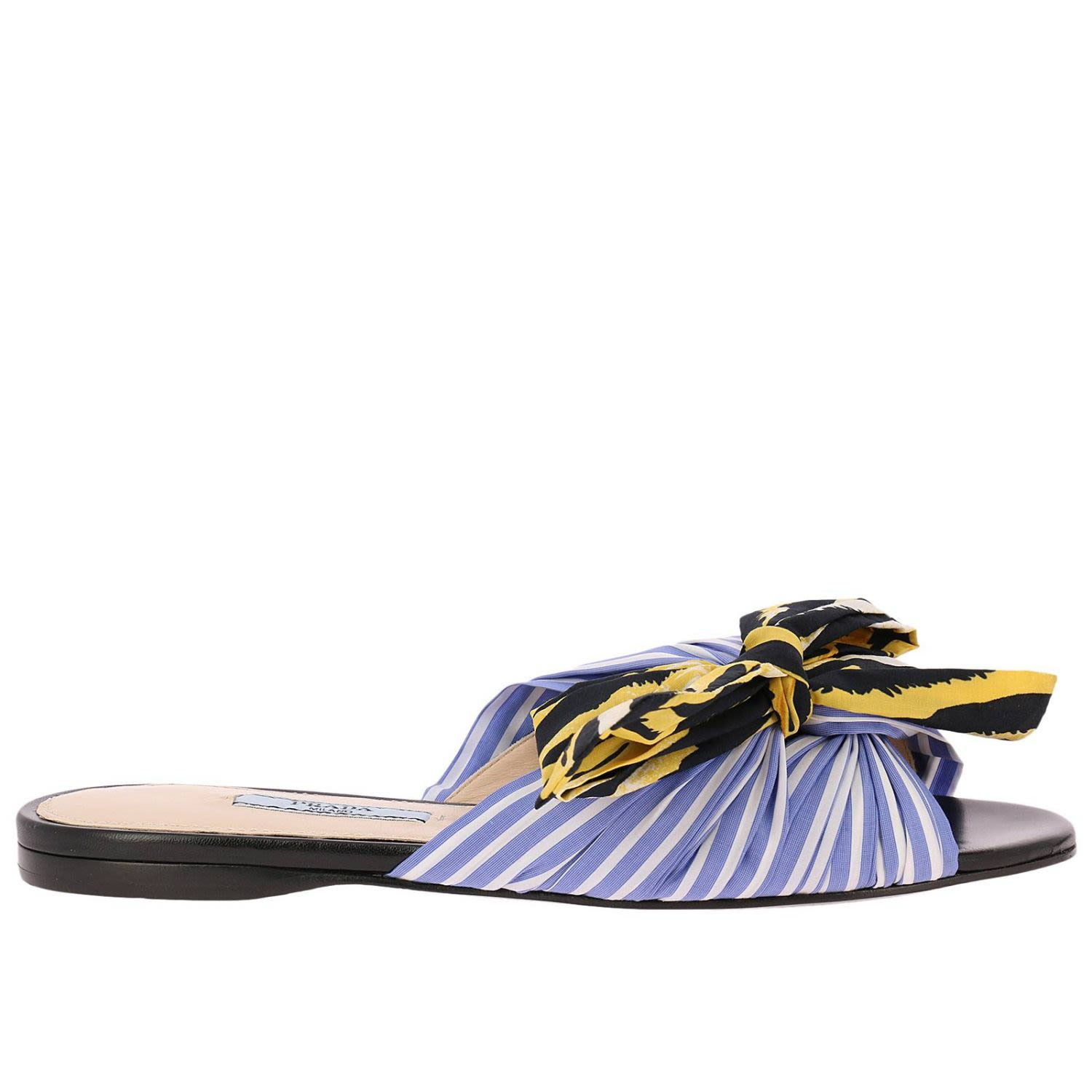 bbba825e4dcc ... 50% off prada flat sandals shoes women prada gnawed blue 89602 85292