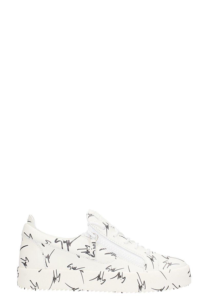 Giuseppe Zanotti The Signature White Leather Sneakers