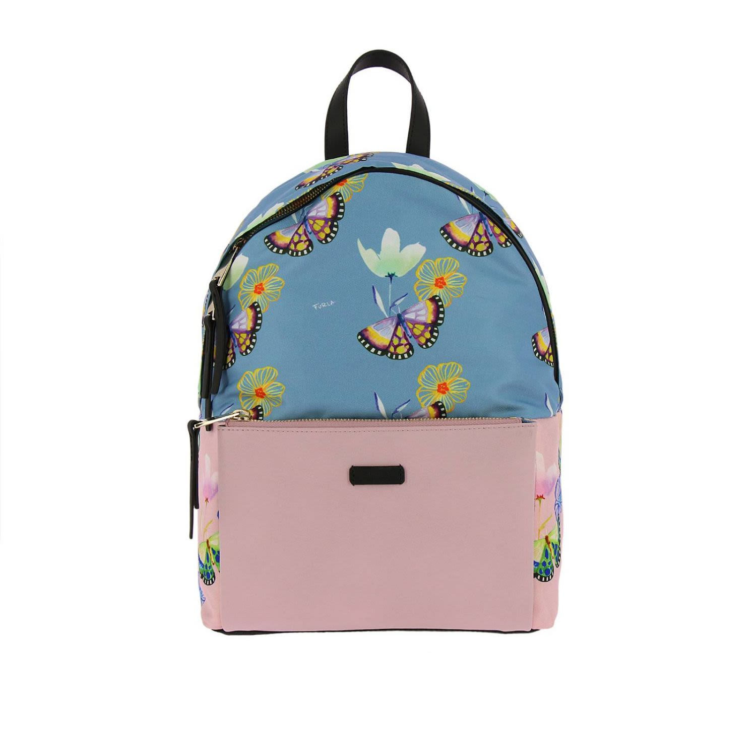Giudecca Small Floral Print Backpack in Pink