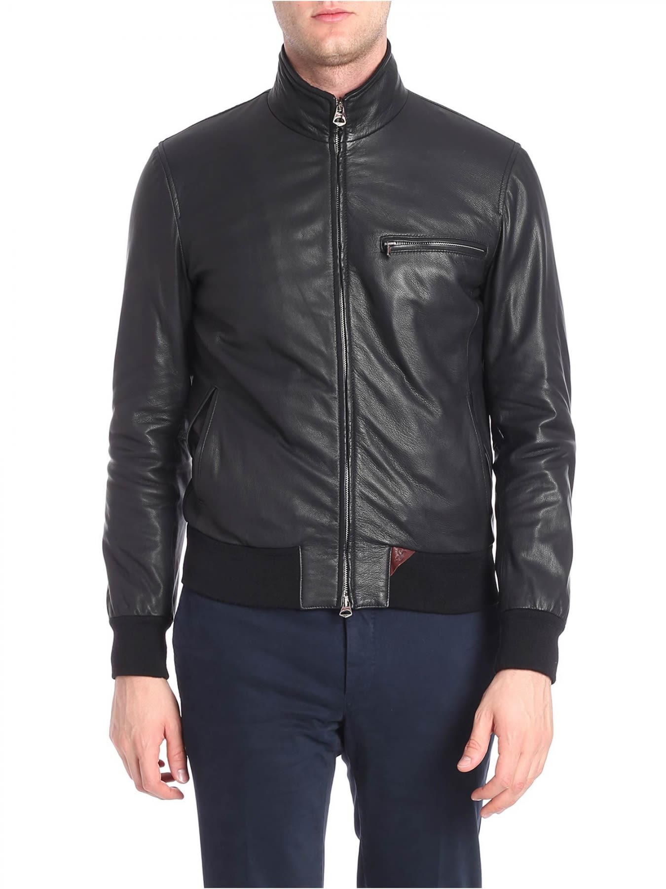 STEWART Leather Jacket in Black