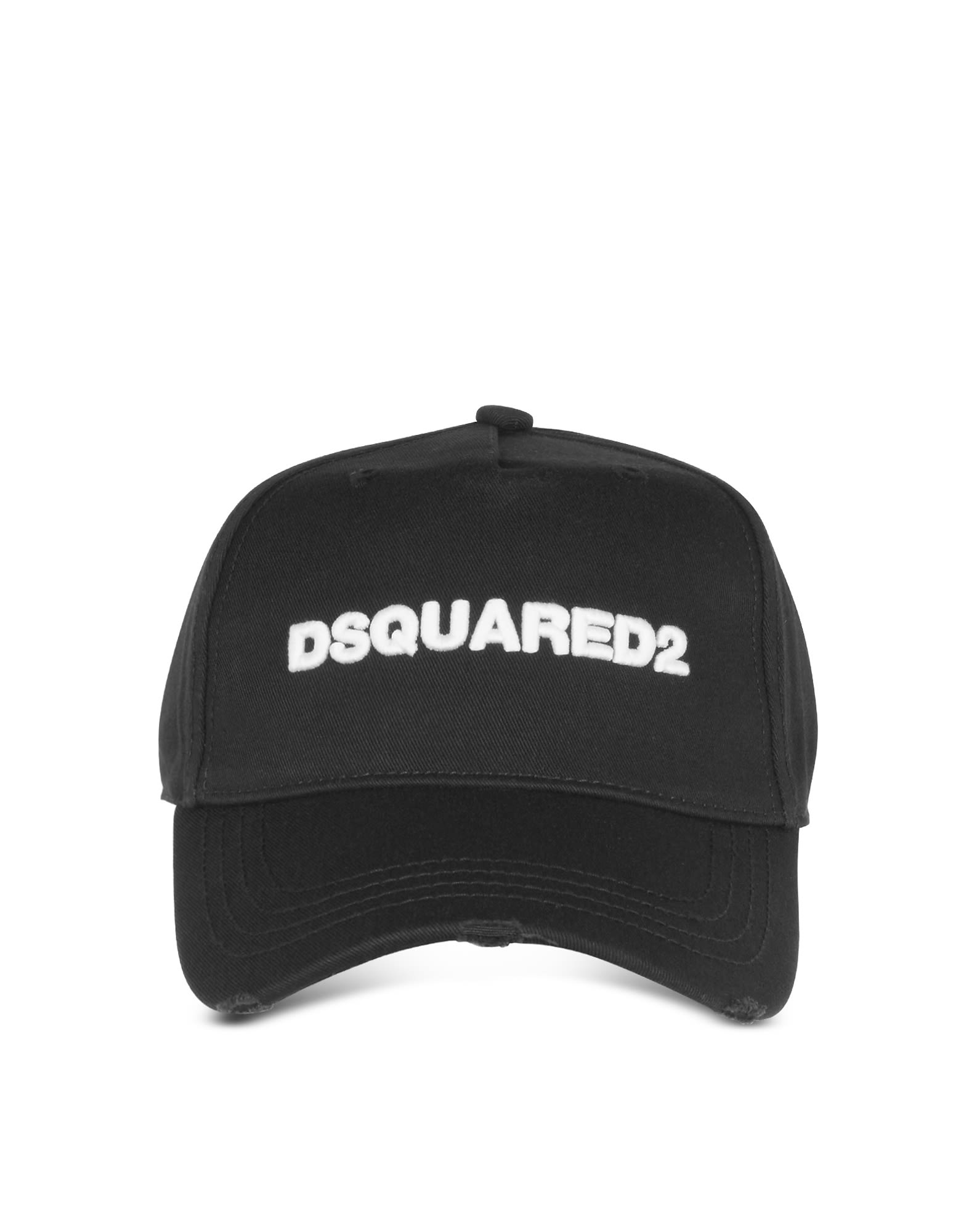 DSQUARED2 EMBROIDERED LOGO GABARDINE BASEBALL CAP