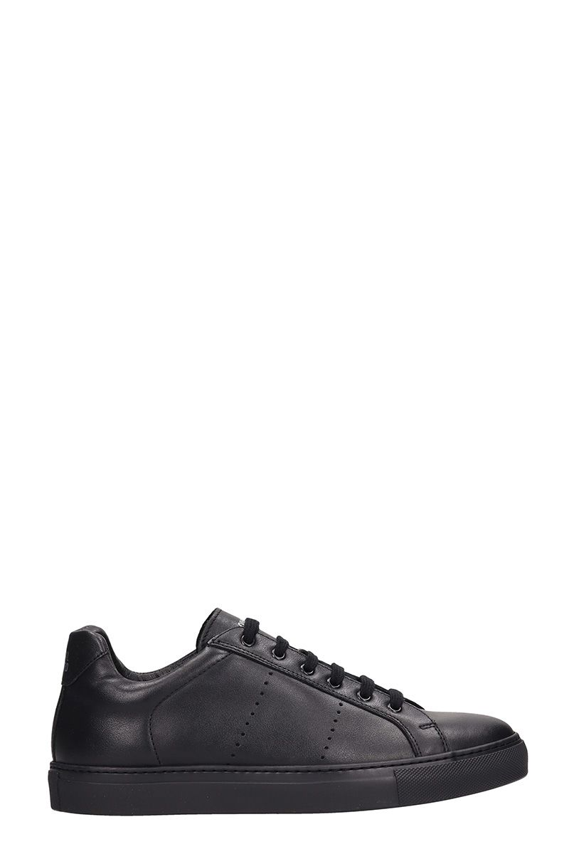 NATIONAL STANDARD Edition 4 Black Leather Sneakers