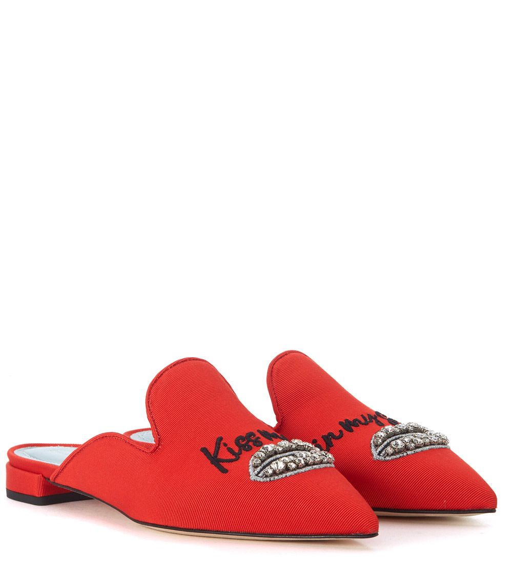 Sale Original Chiara Ferragni Suite Red Pointed Mules With Embroidery And Crystals Outlet New Arrival Clearance Pre Order mlDEoTuAXy