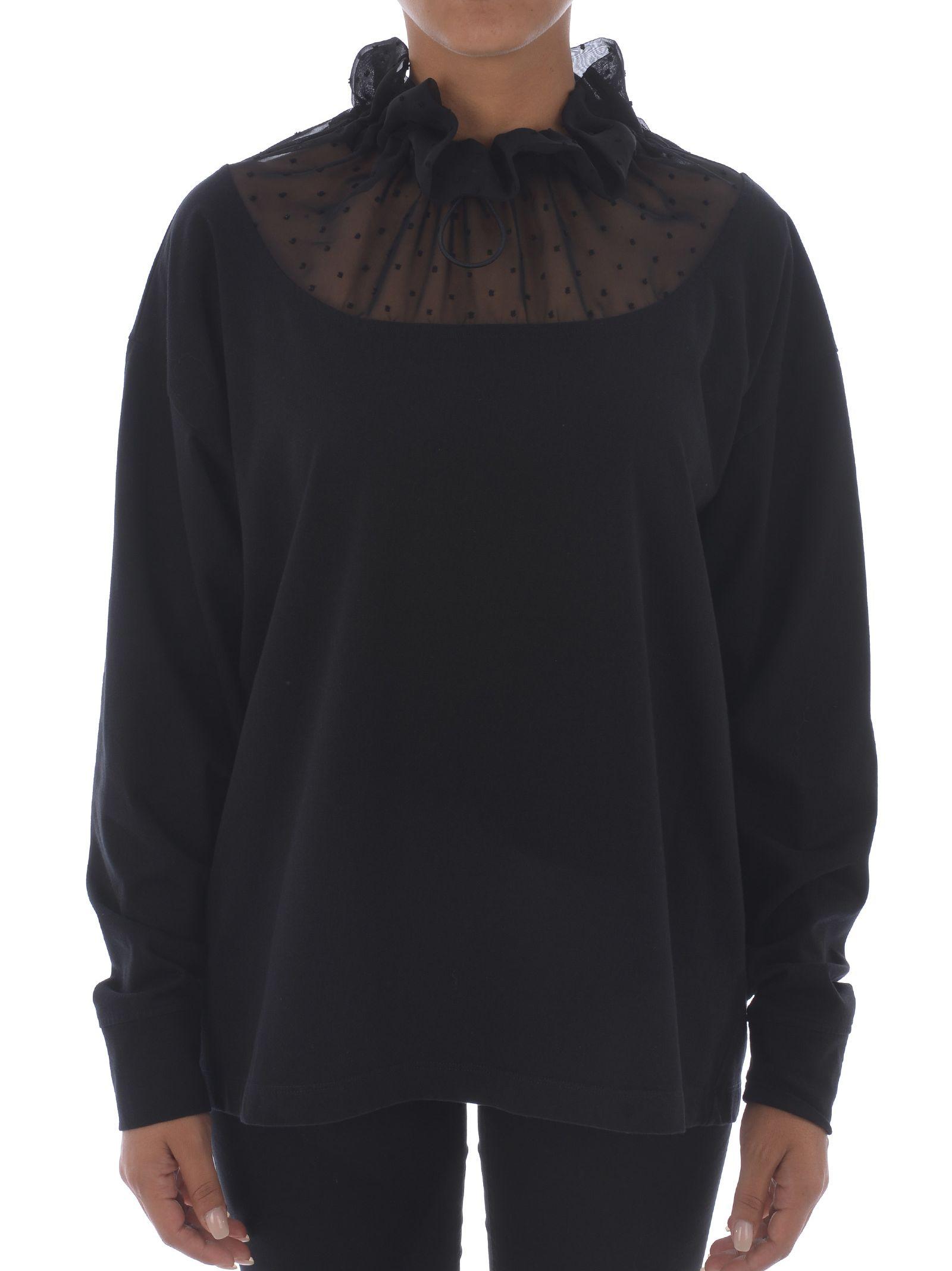 Mm6 Maison Margiela Sheer Detail Sweatshirt