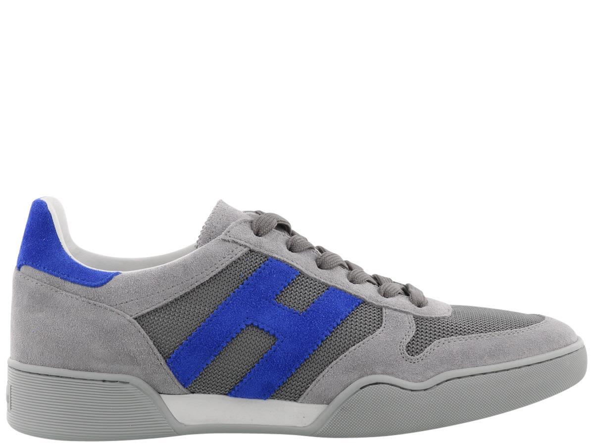 Gray and blue H357 sneakers Hogan bVHPR03Xga