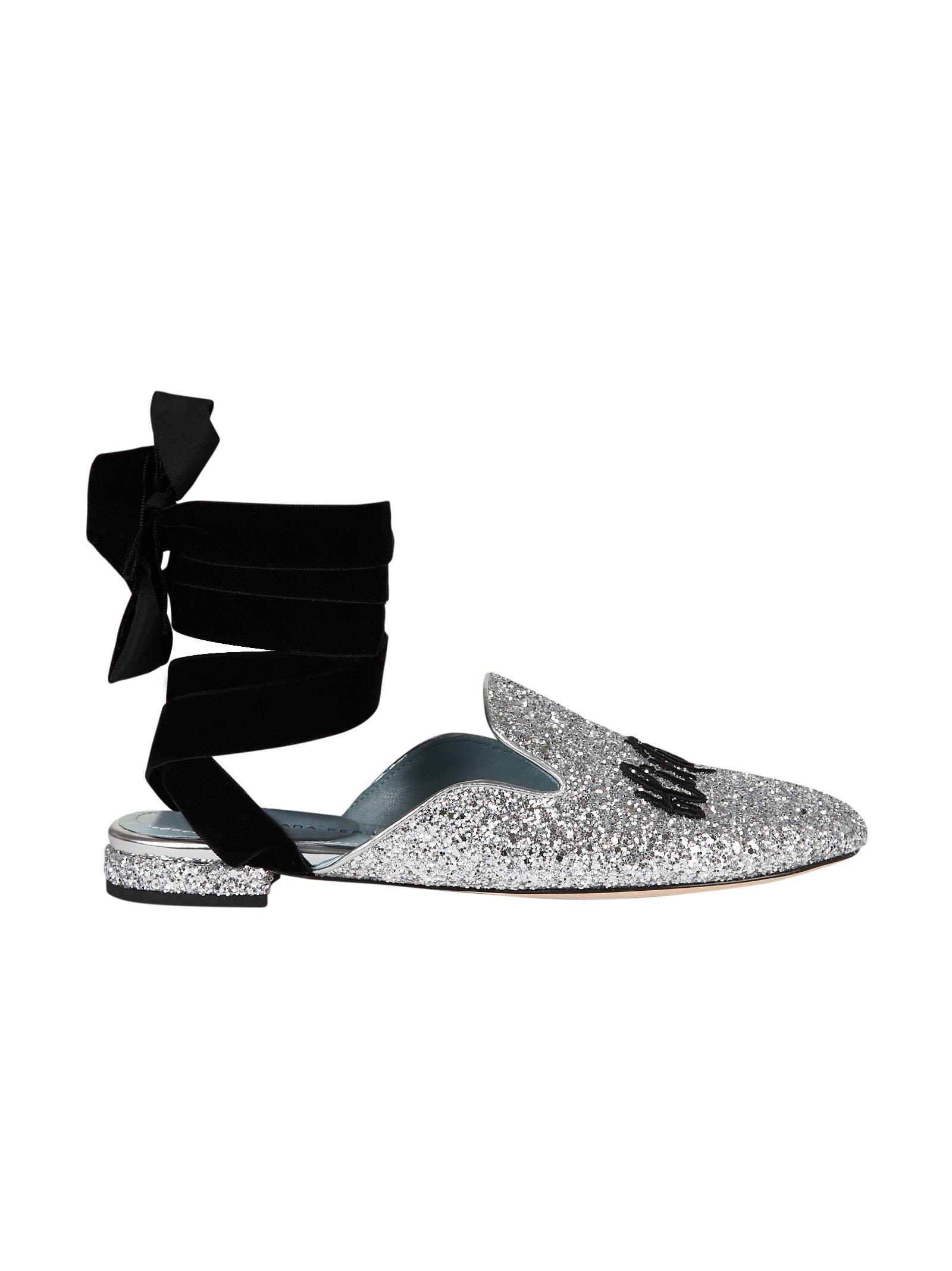 Chiara Ferragni Suited Lace-up Mules Discount Cheapest Price 5bGw1XHm