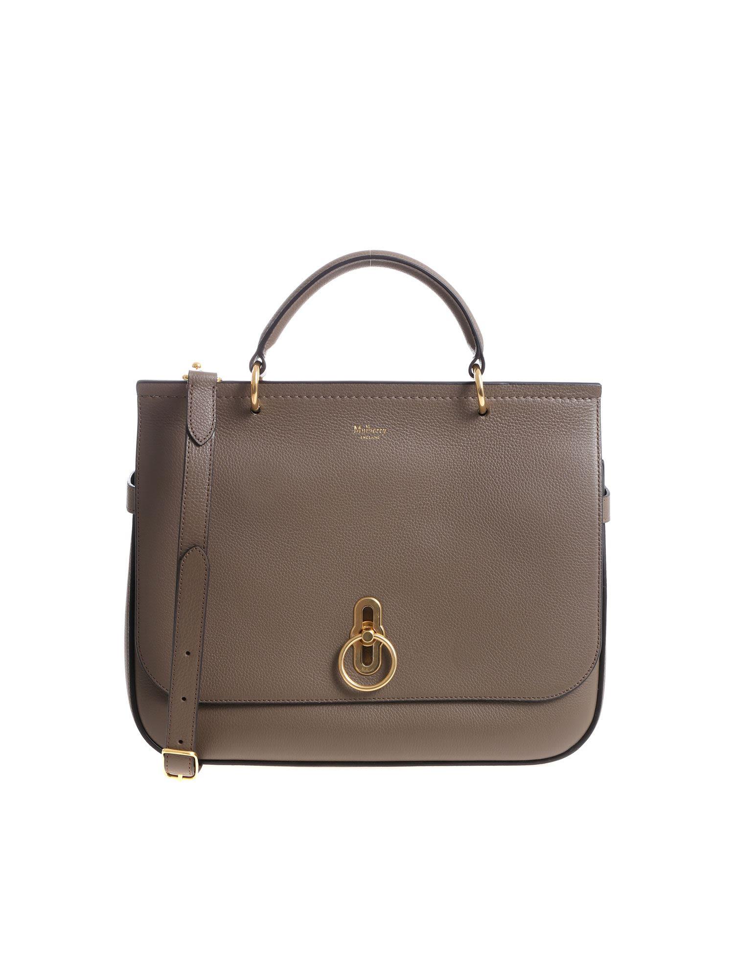 640dc65dc5ef Mulberry Logo Shoulder Bag In Basic