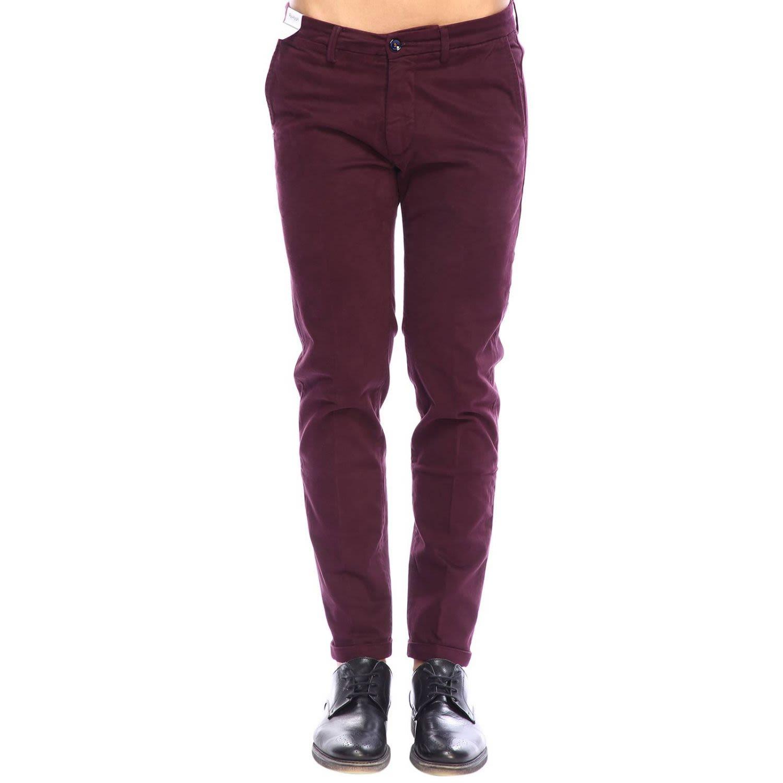 RE-HASH Re-Hash Pants Pants Men Re-Hash in Burgundy