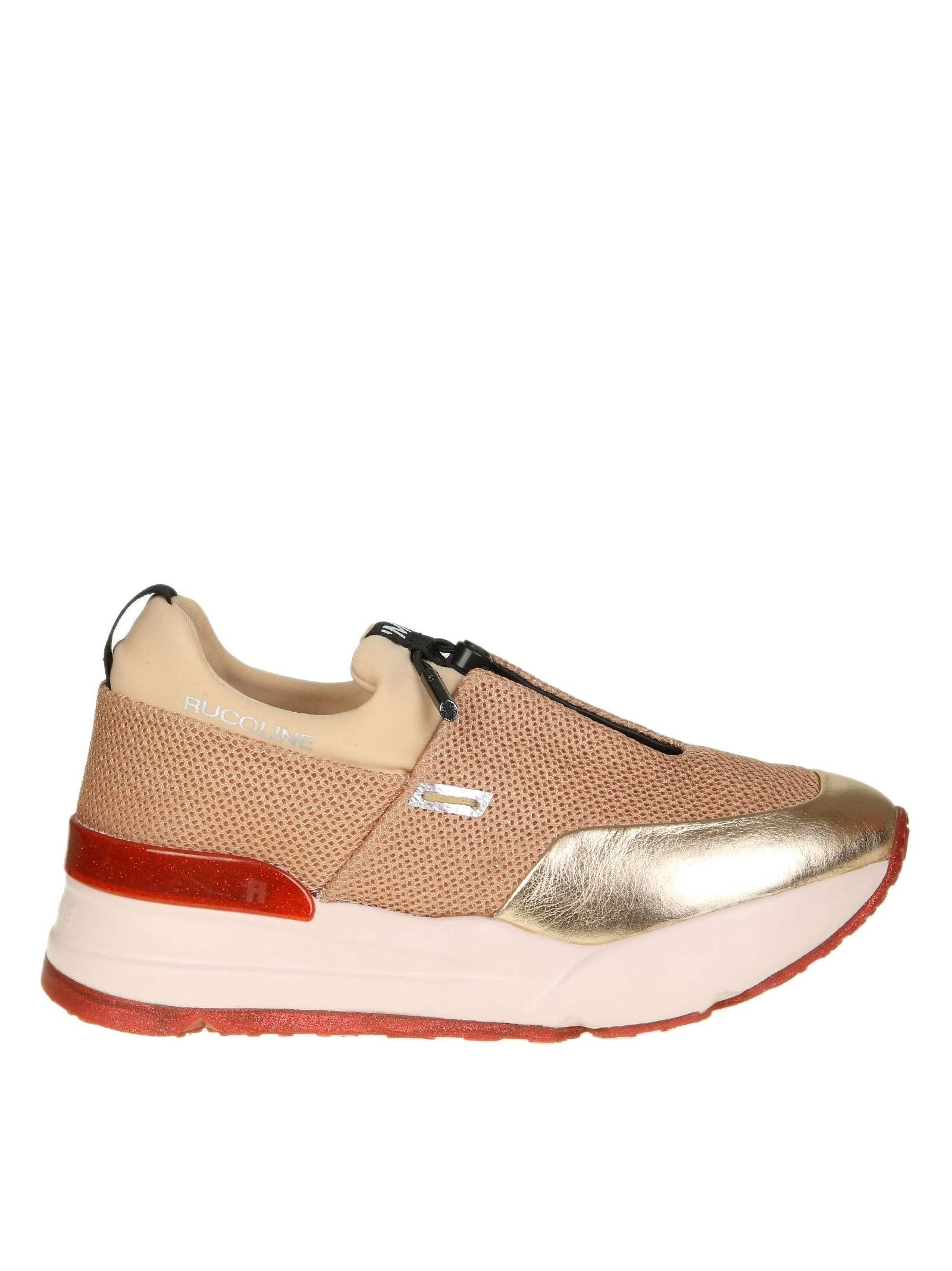 "Ruco Line RUCOLINE SNEAKERS ""ESSENTIEL"" NET AND SKIN PINK COLOR"
