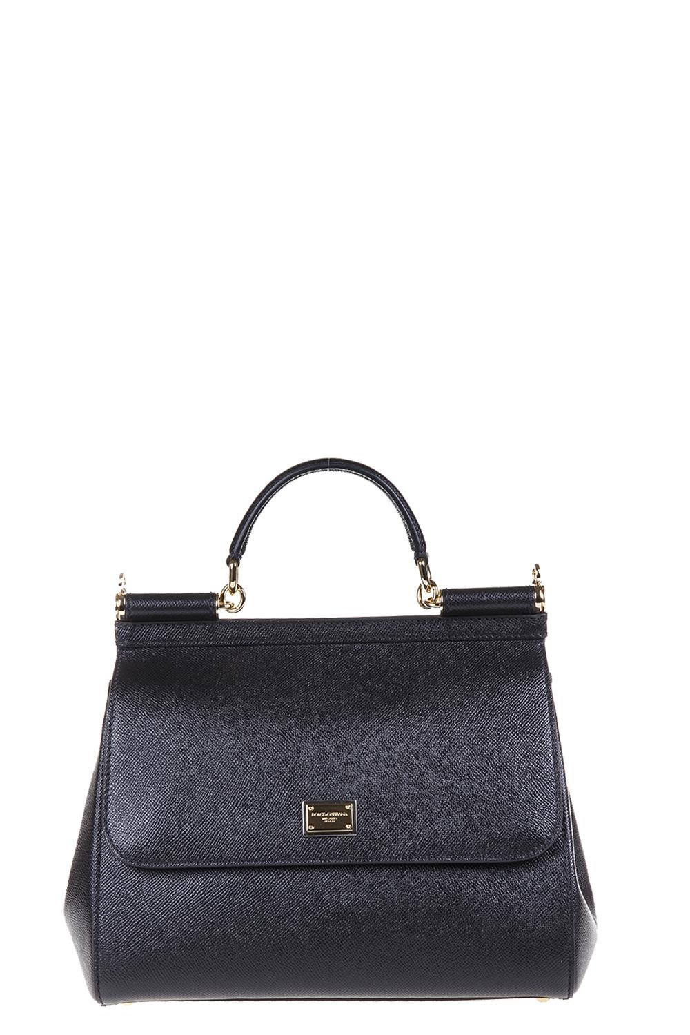 Dolce & Gabbana Black Dauphine leather tote riSuQicy