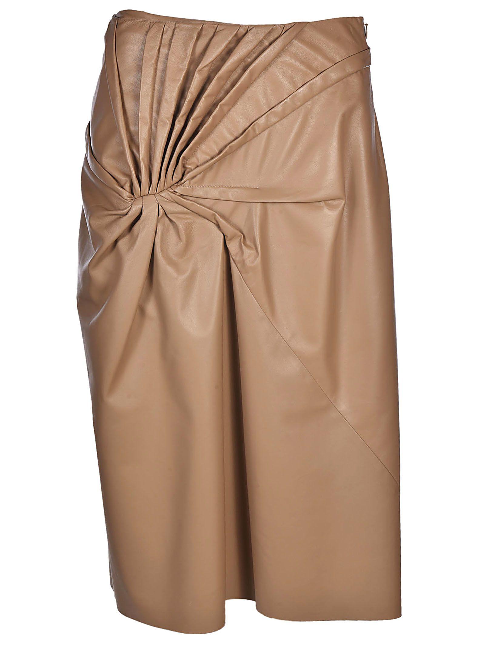 drapes rust front draped viscose spring knit official crepe shop asymmetrical site skirt tibi