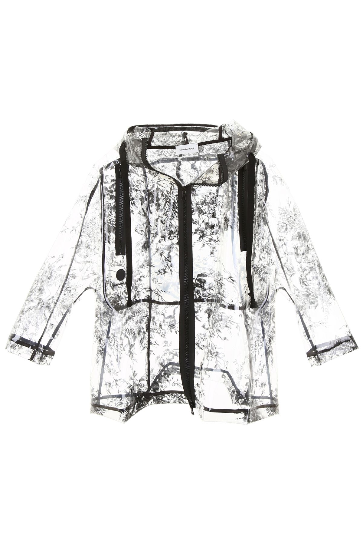 SCRAMBLED EGO Clear Jacket in Black