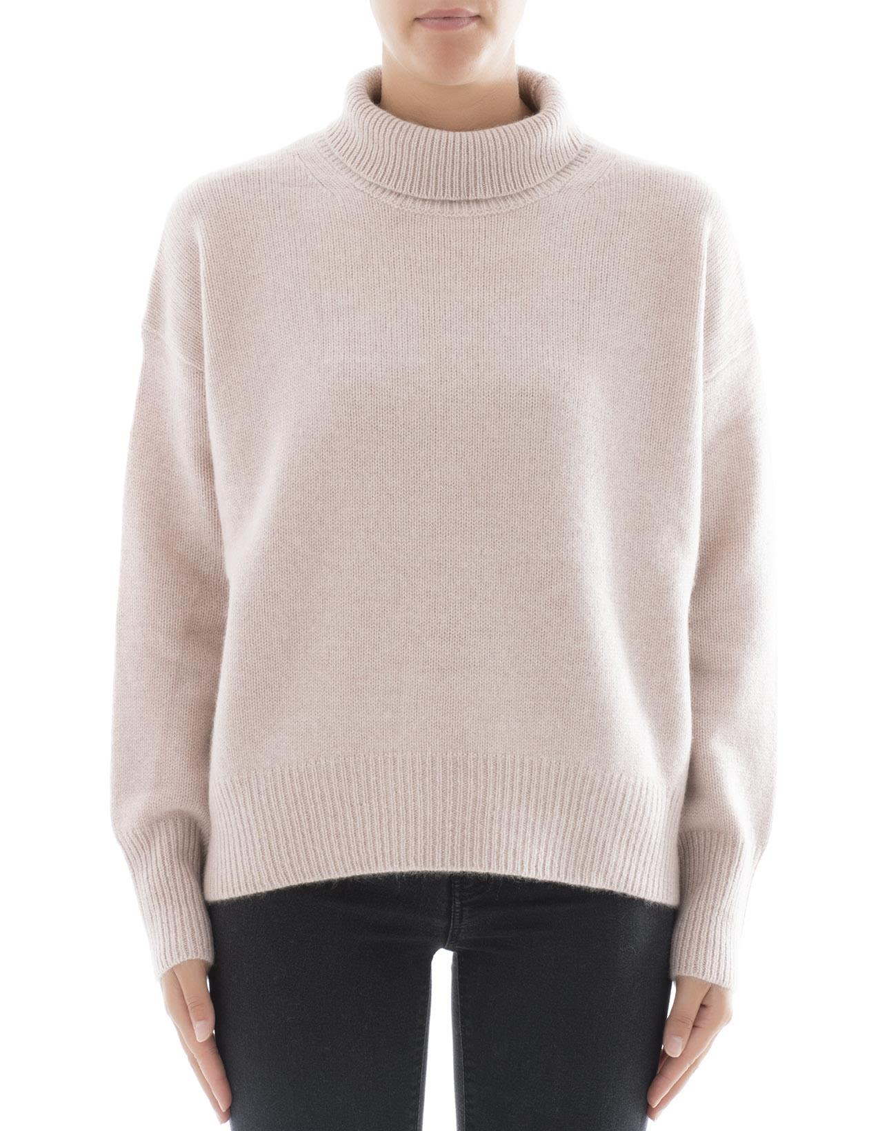 360 sweater female pink cachemire turtleneck