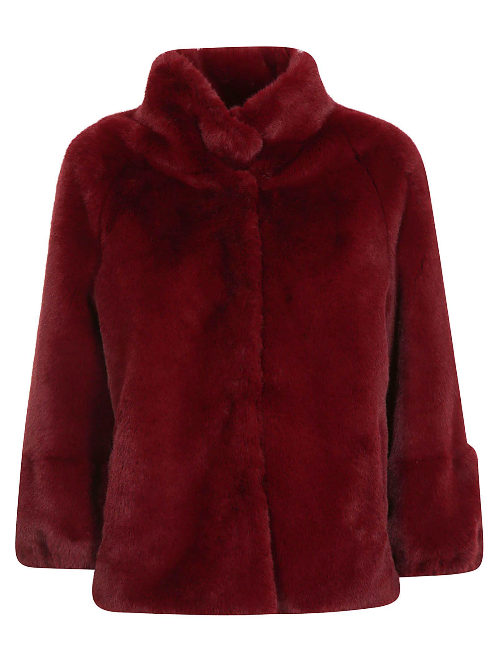 BETTA CORRADI Fur Jacket in Bordeaux
