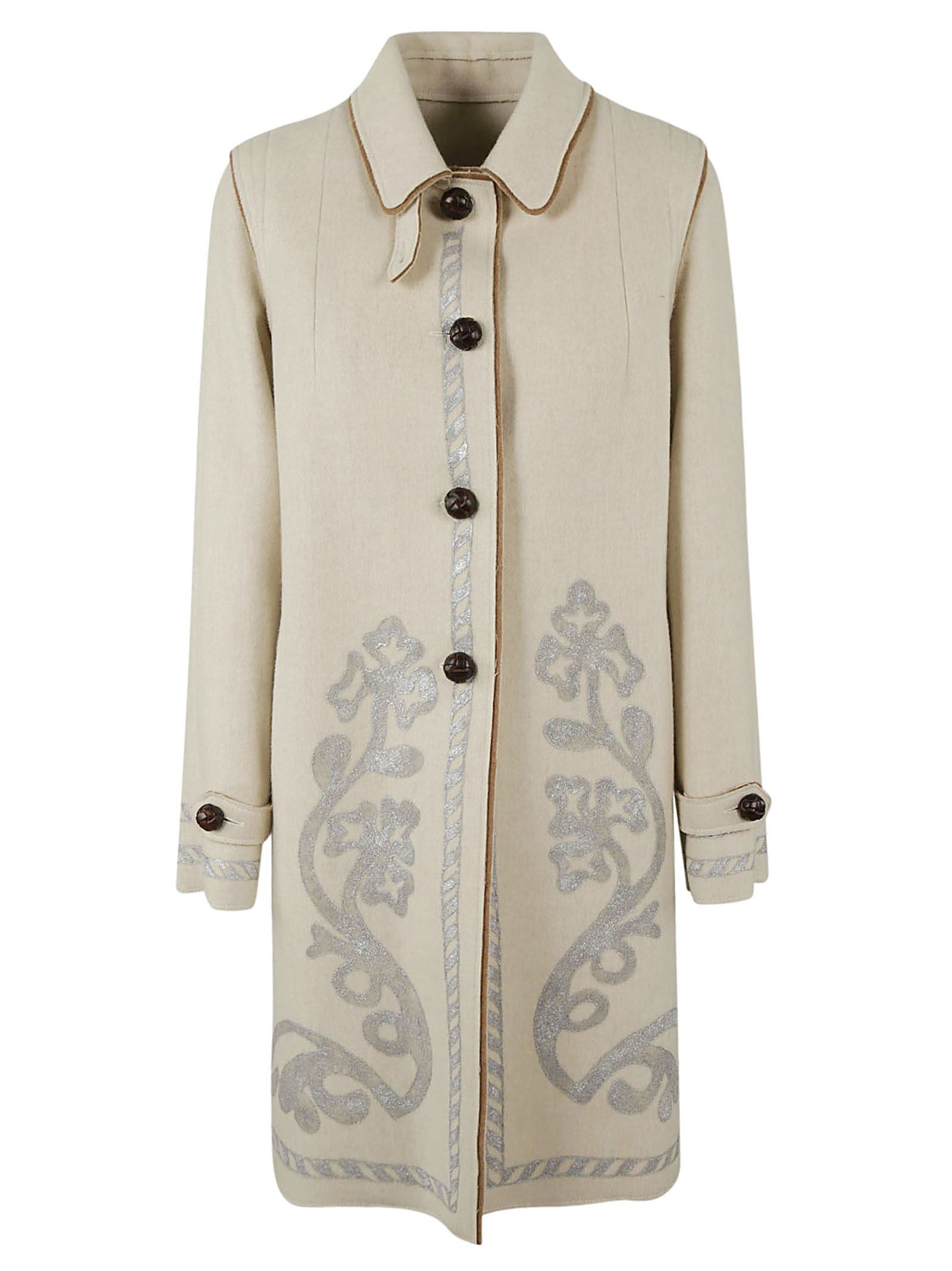 LODENTAL Lodental Single-Breasted Coat in Ivory
