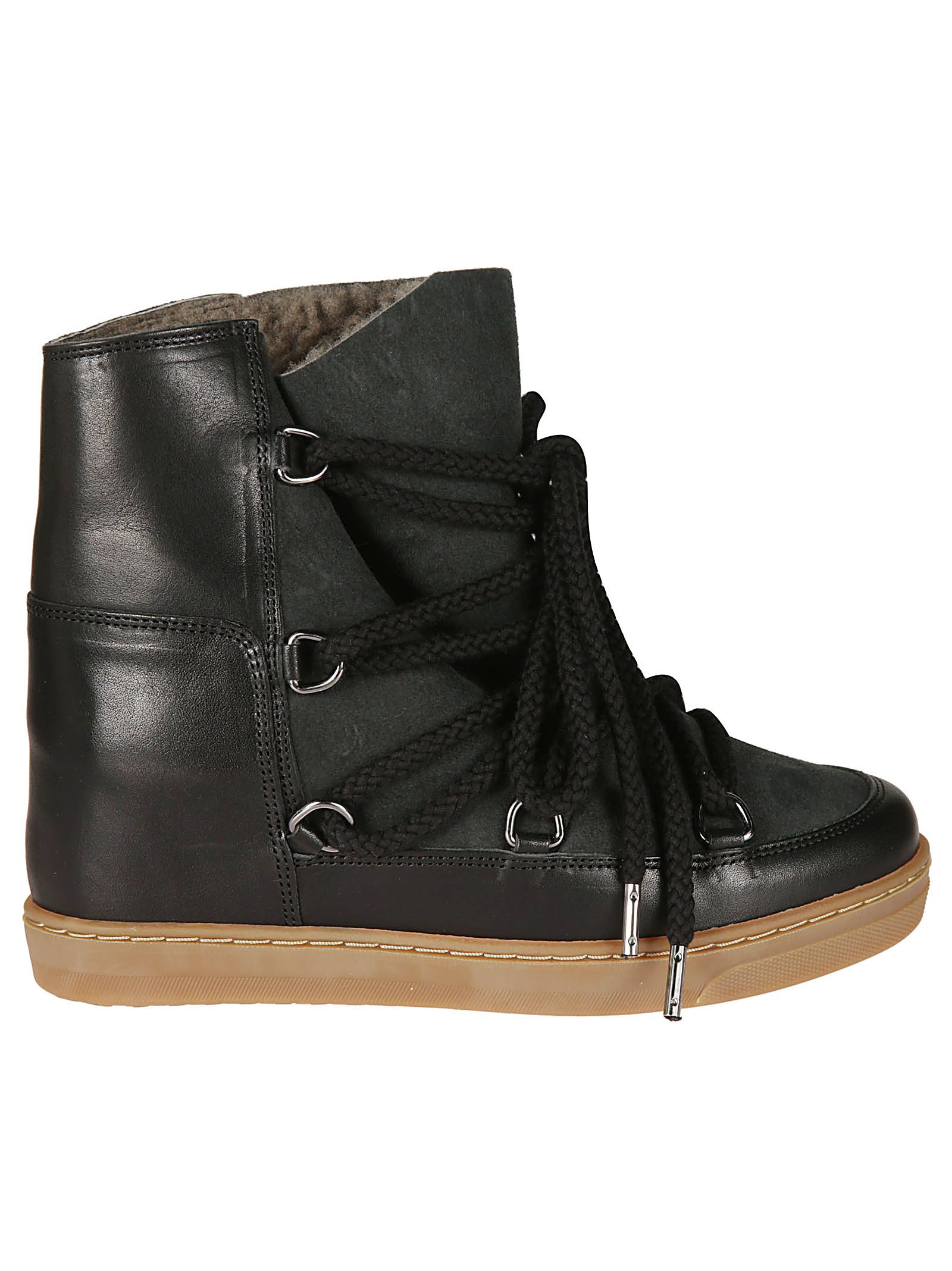Nowles Lace-Up Boots, Black