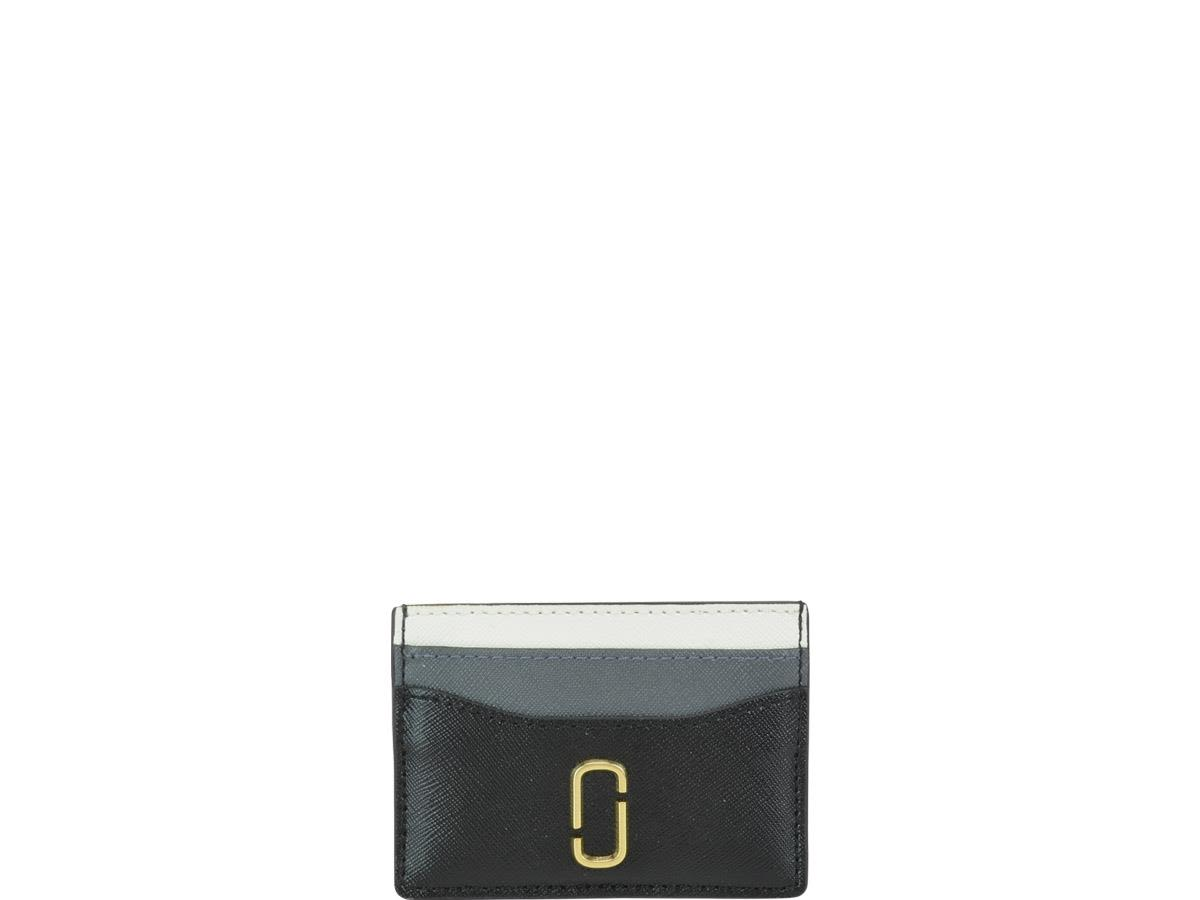 Snapshot Leather Card Holder in Black