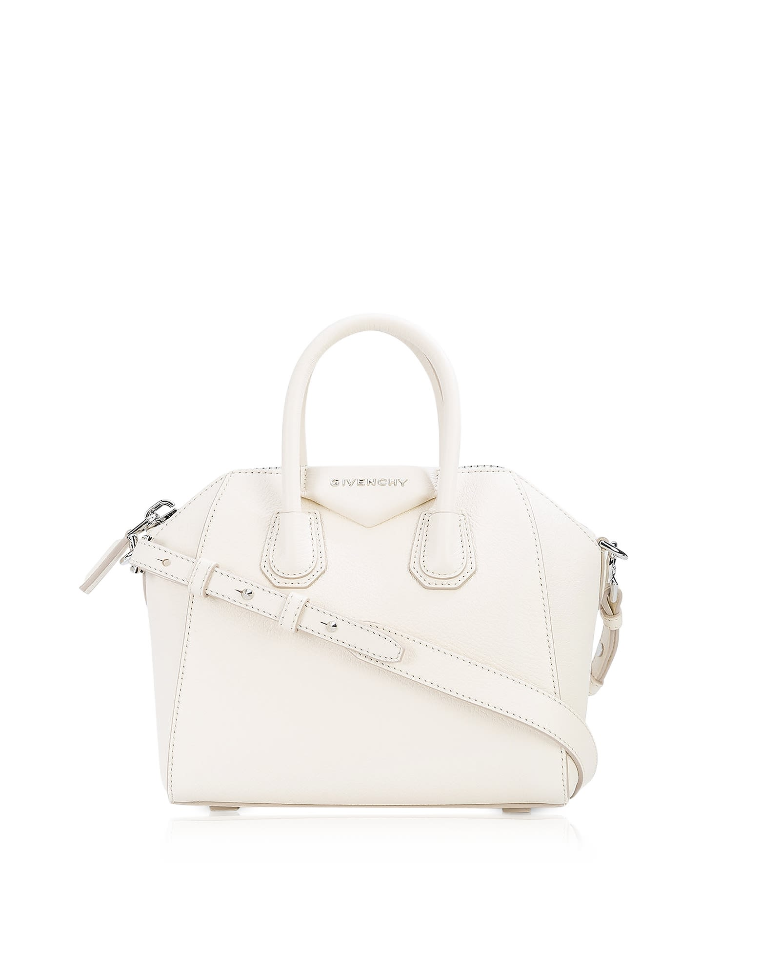ac0a3a90f2 Givenchy Antigona Mini Off White Leather Satchel Bag | ModeSens