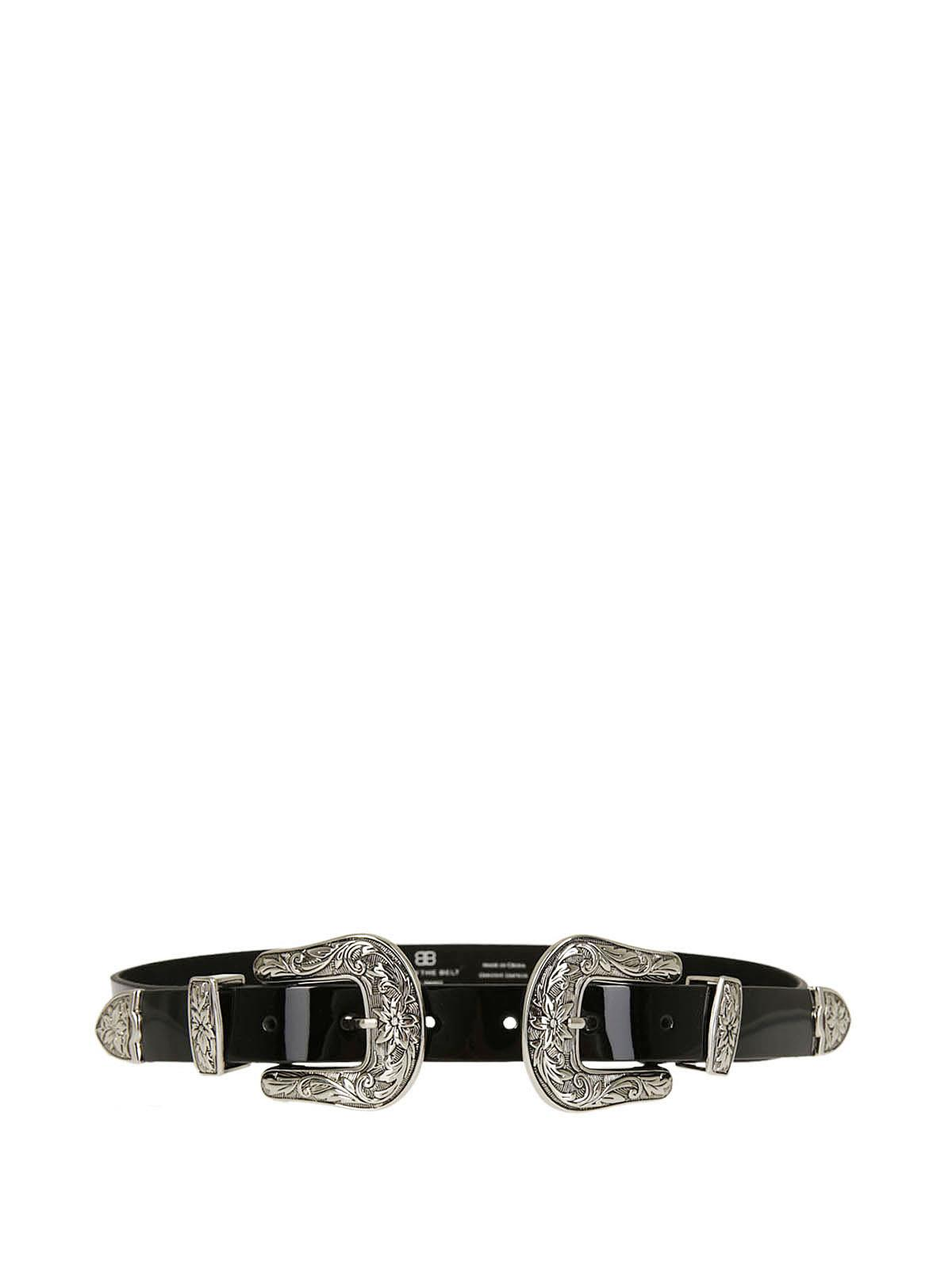 western buckle belt - Black B-Low The Belt DnHK48