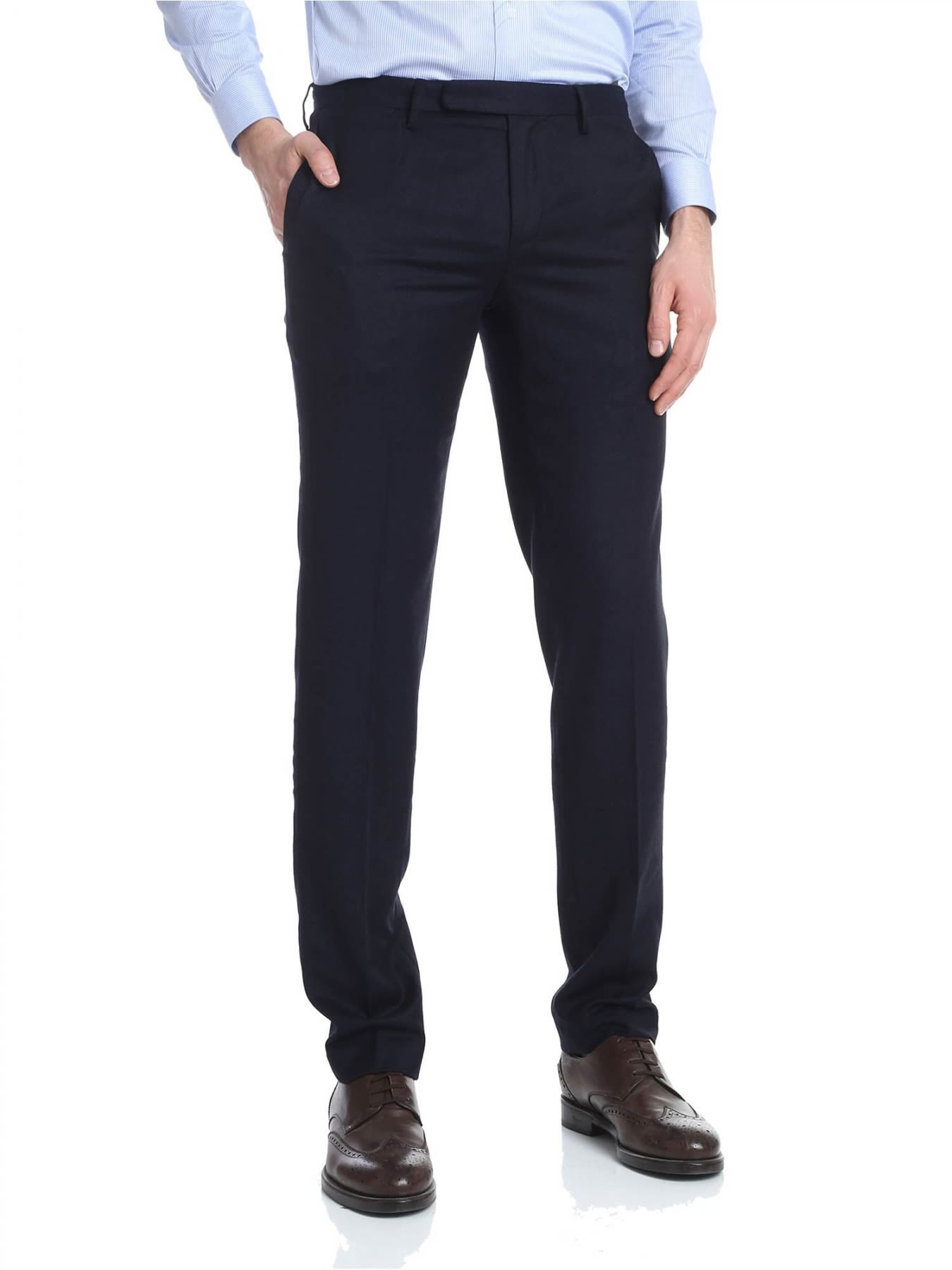 BROOKS BROTHERS Trousers Wool in Blue