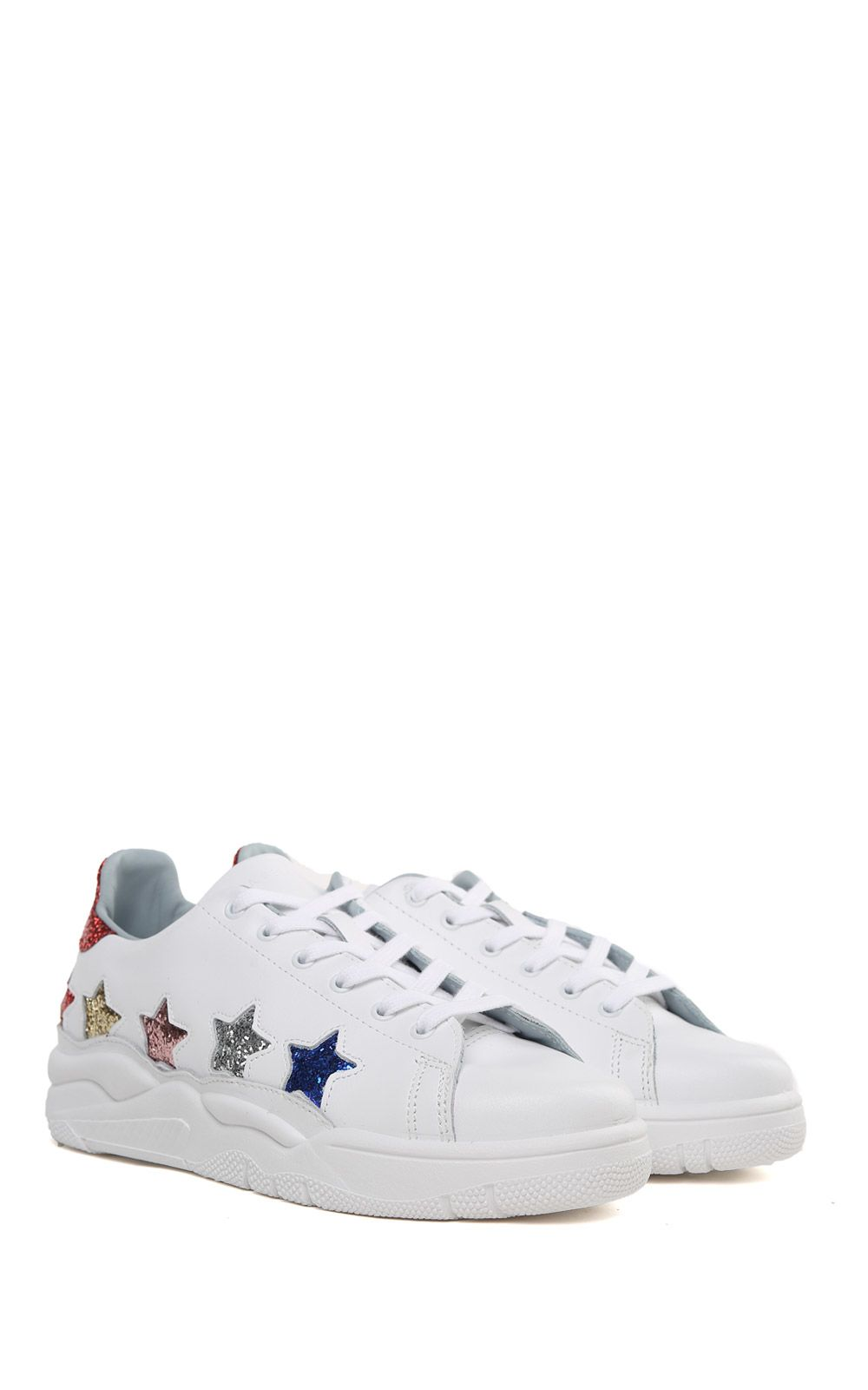 Roger glittered-star leather sneakers Chiara Ferragni T14wz6ZLEV