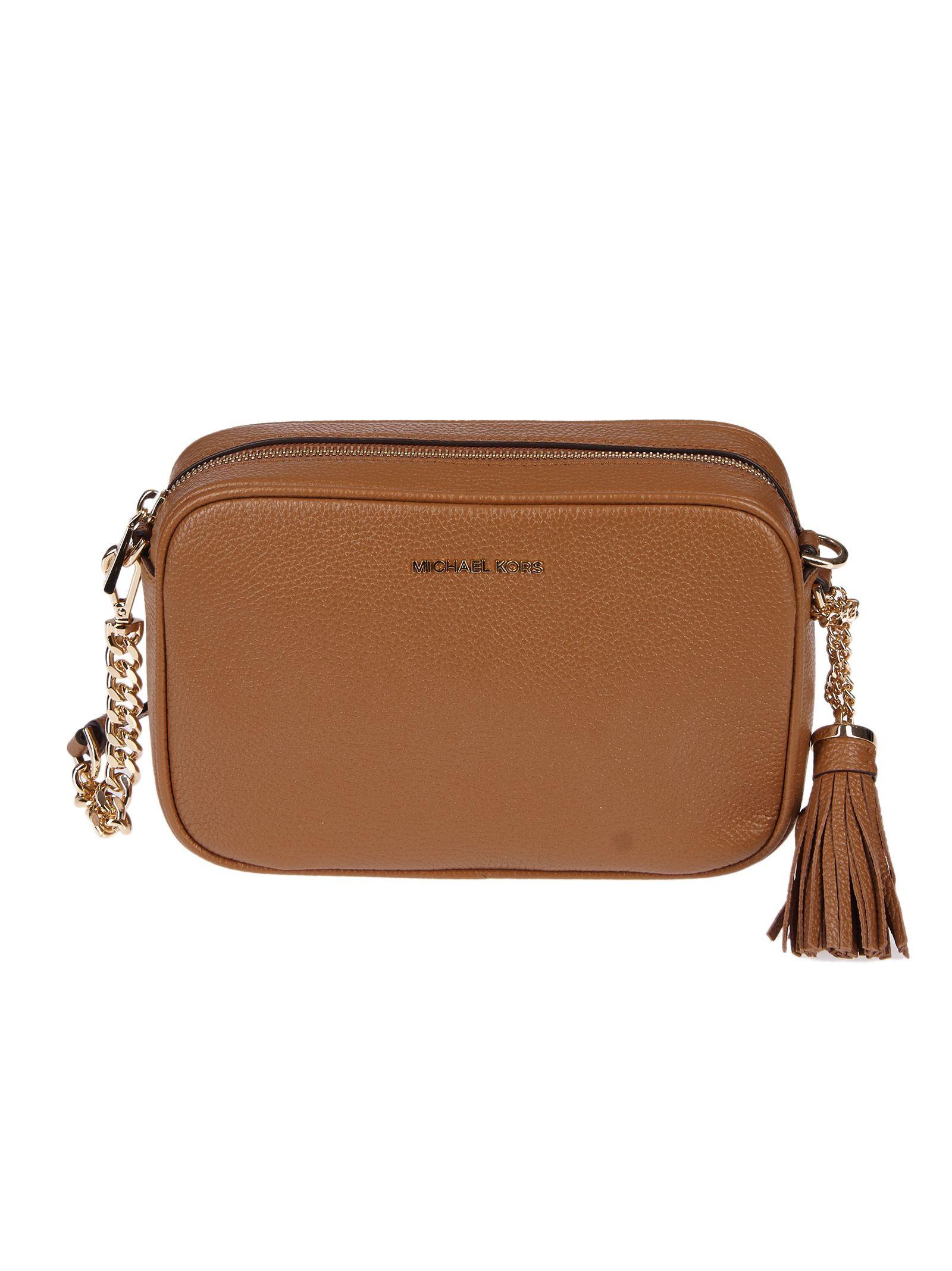 54117d68c681b1 Michael Michael Kors Ginny Shoulder Bag In Brown   ModeSens