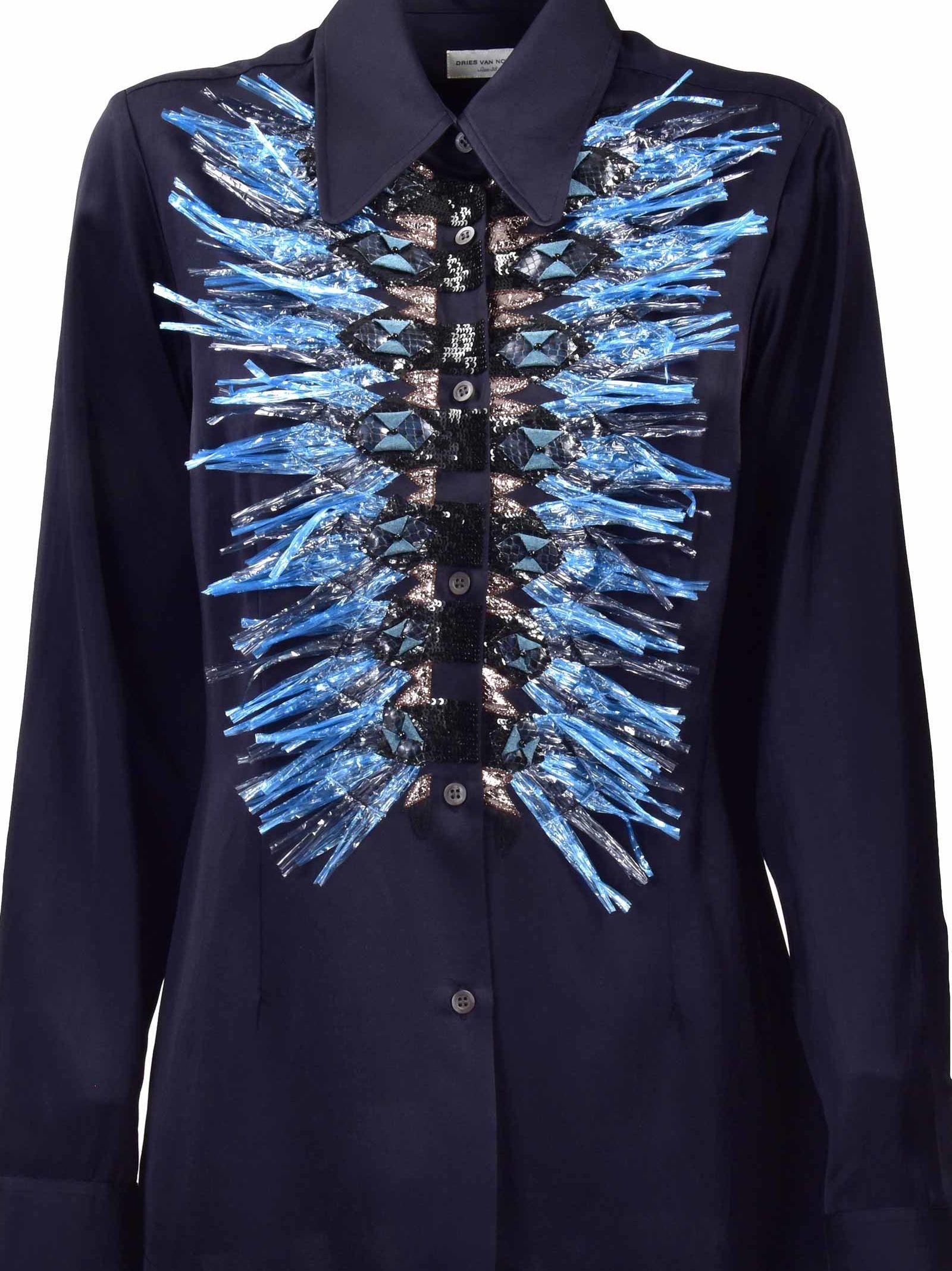 Dries Van Noten Embellished Placket Shirt