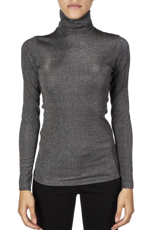 Dondup Grey Ribbed Viscose Knitwear