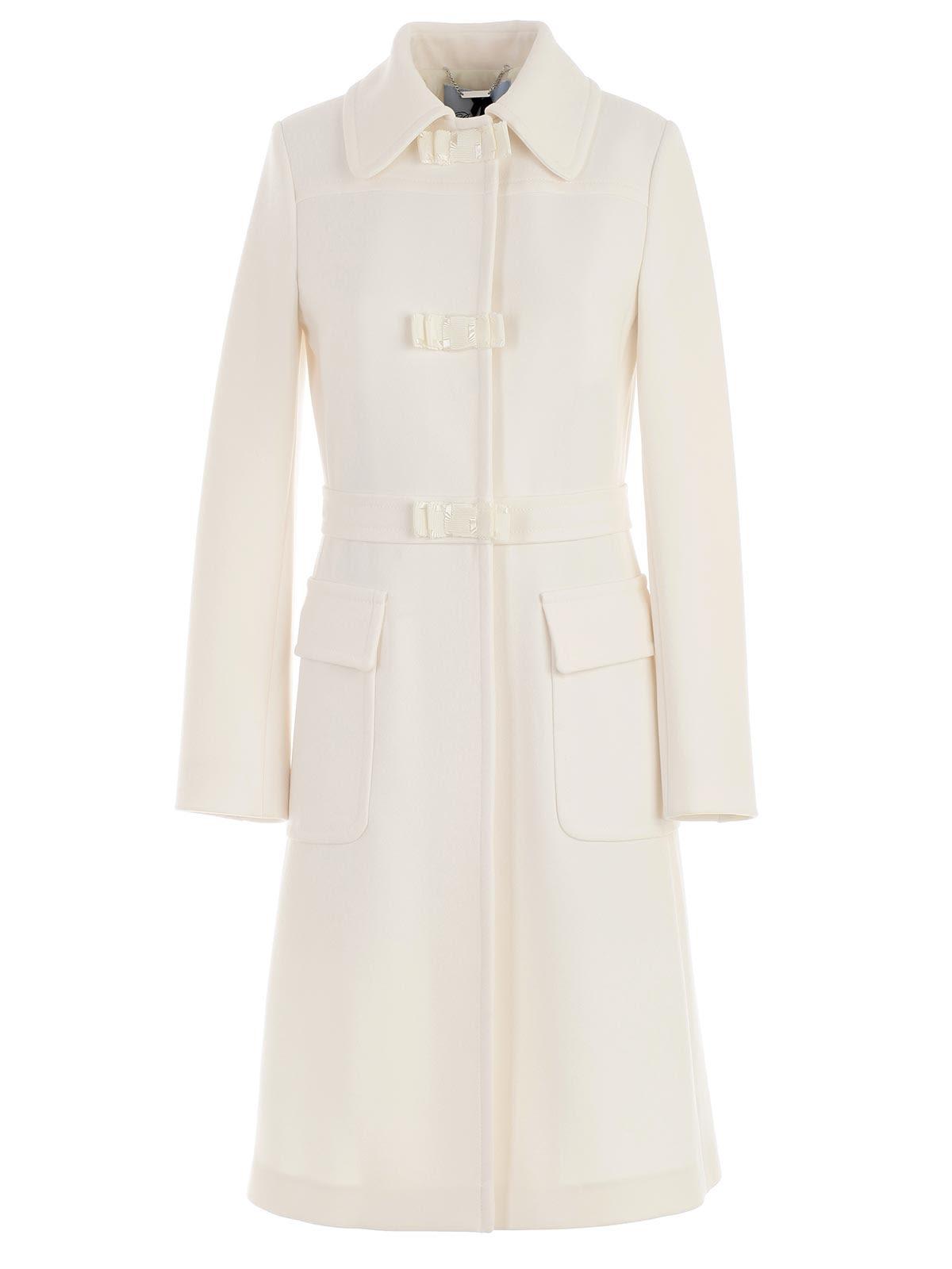 Blumarine Bow Detail Coat