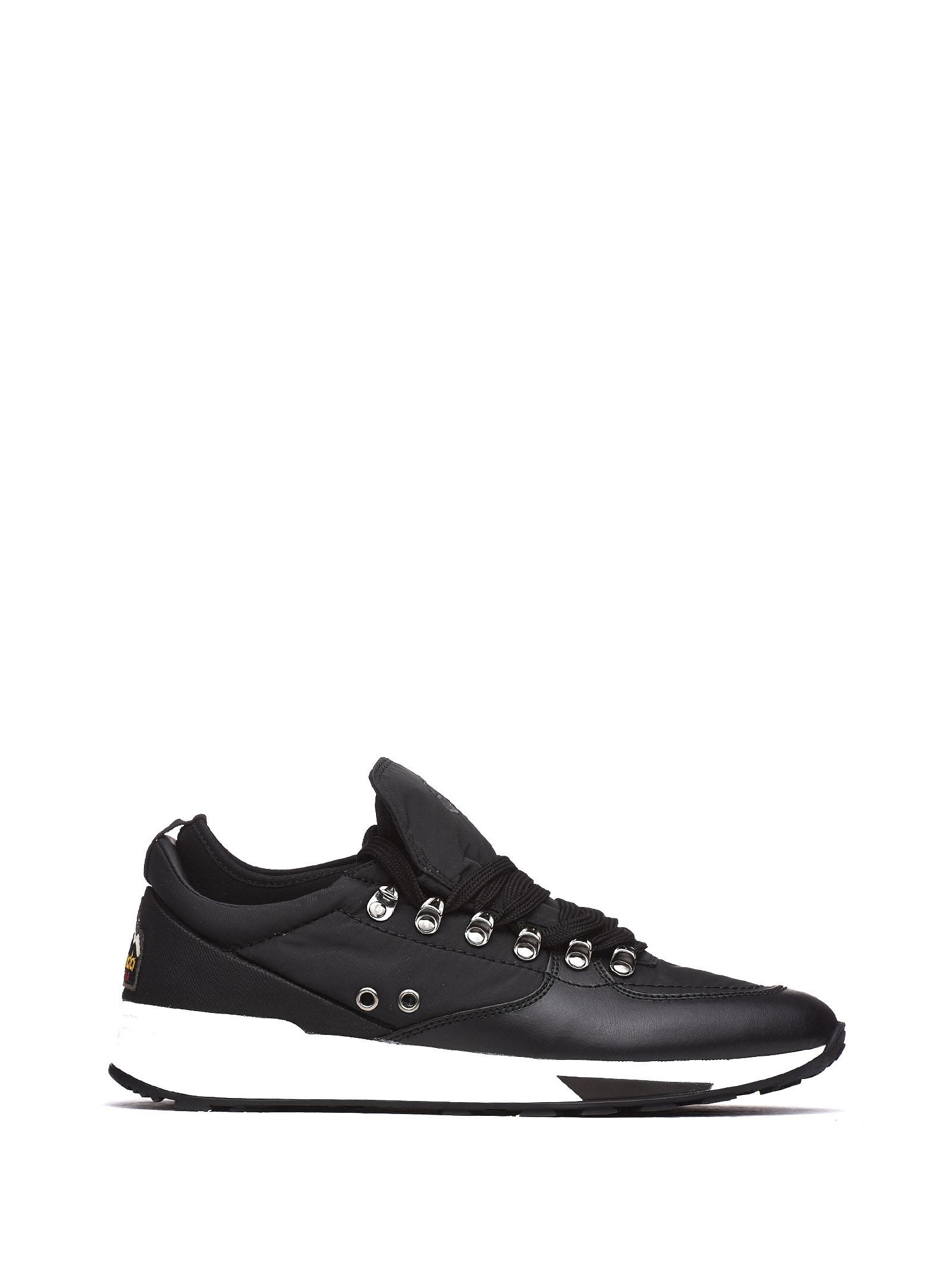 BARRACUDA Sneakers In Leatehr And Fabric in Nero