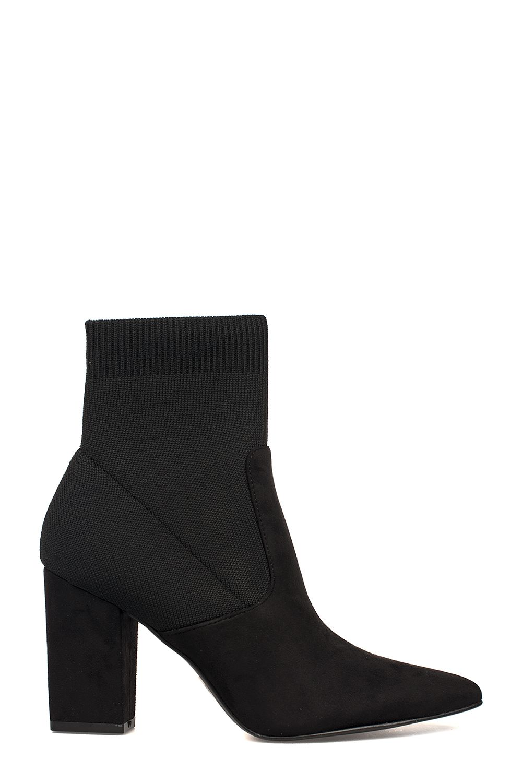 Black Suede Renne Anke Boot