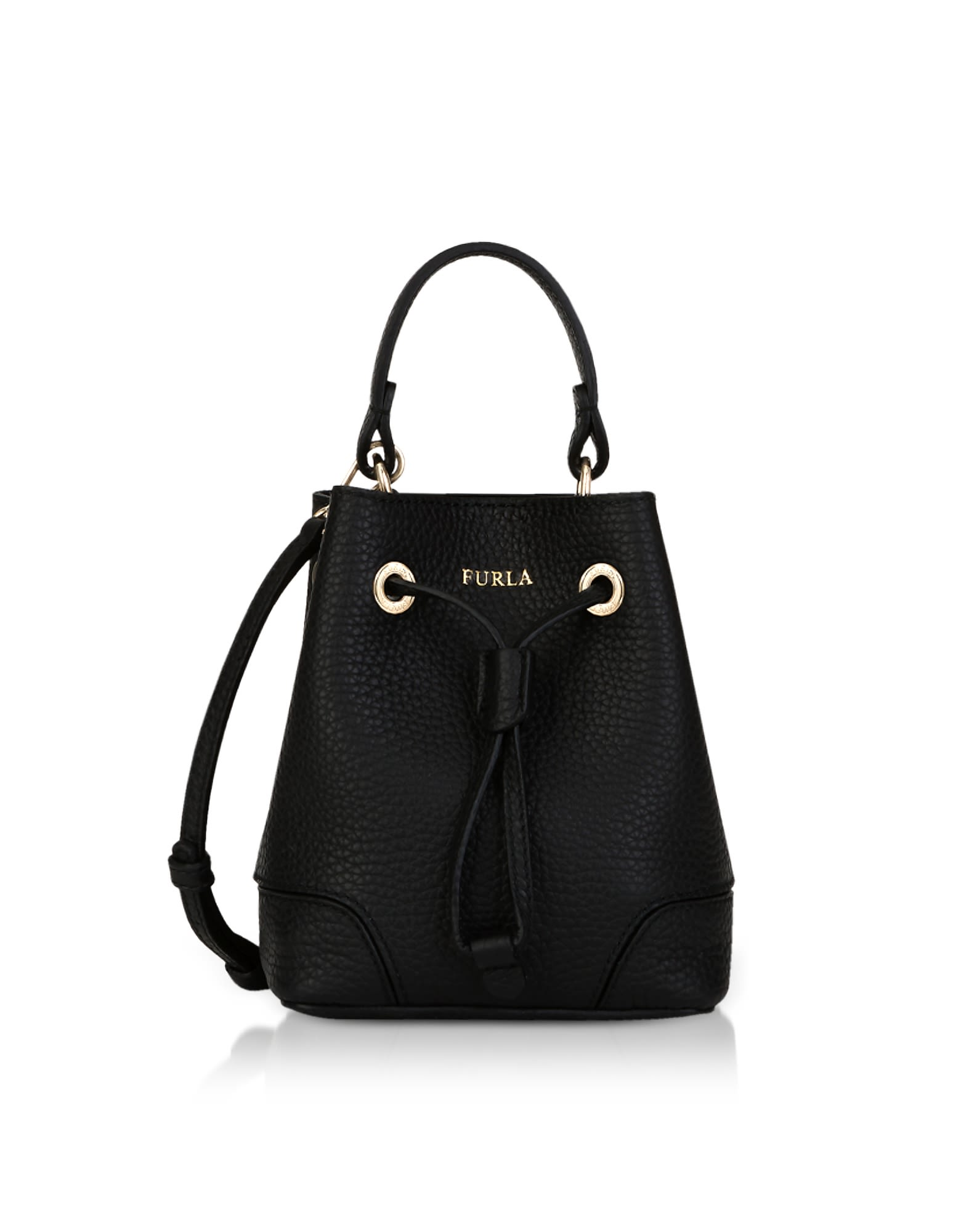 STACY MINI DRAWSTRING BUCKET BAG