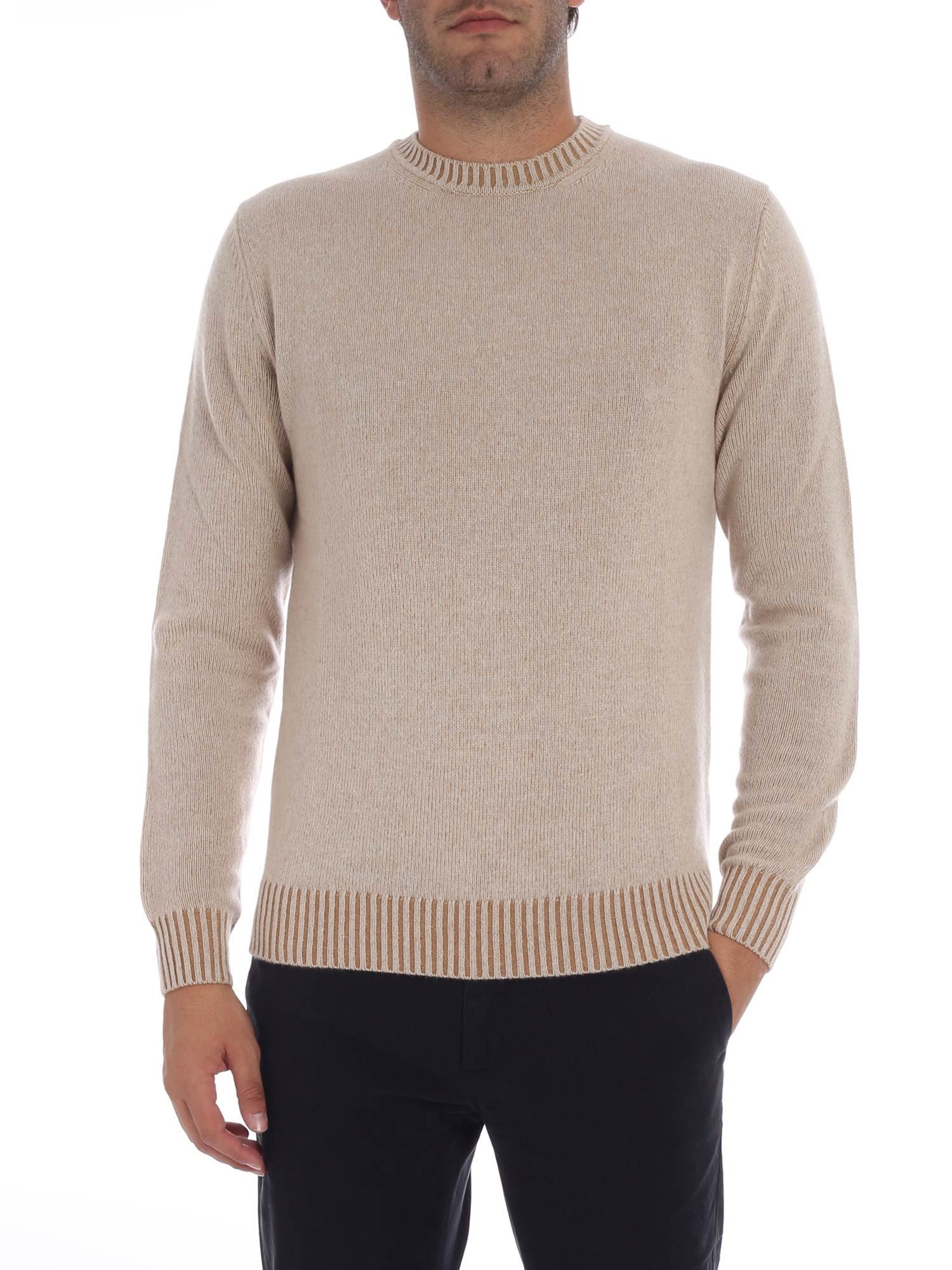 LUIGI BORRELLI Crew Neck Jumper in Beige
