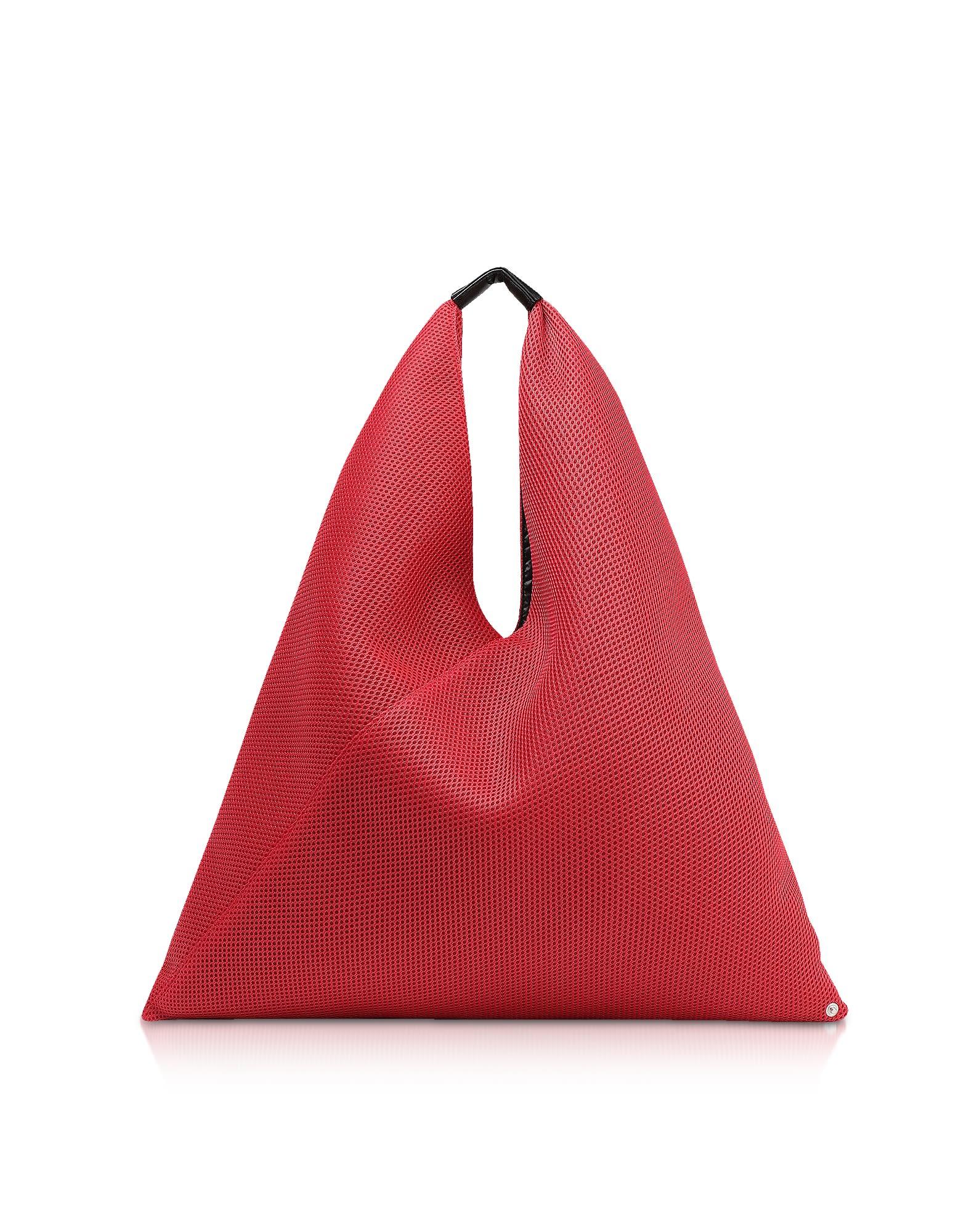 9a75c0e79e48 Mm6 Maison Margiela Mm6 Maison Martin Margiela Net Fabric Japanese Tote Bag  In Red