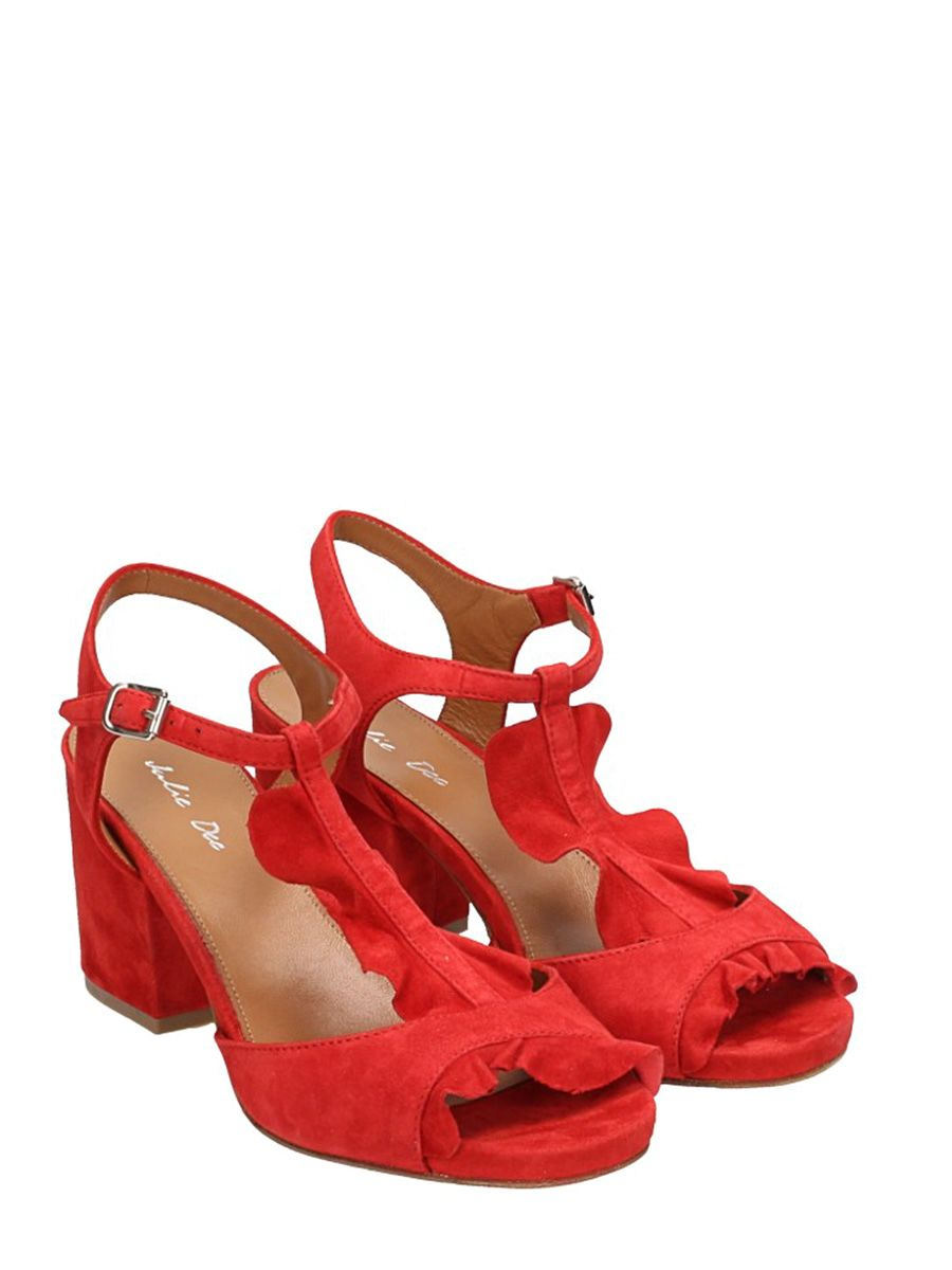 Release Dates Julie Dee Ruffles Suede Sandals Buy Cheap Best Place With Paypal Cheap Price WOjeQoqk0