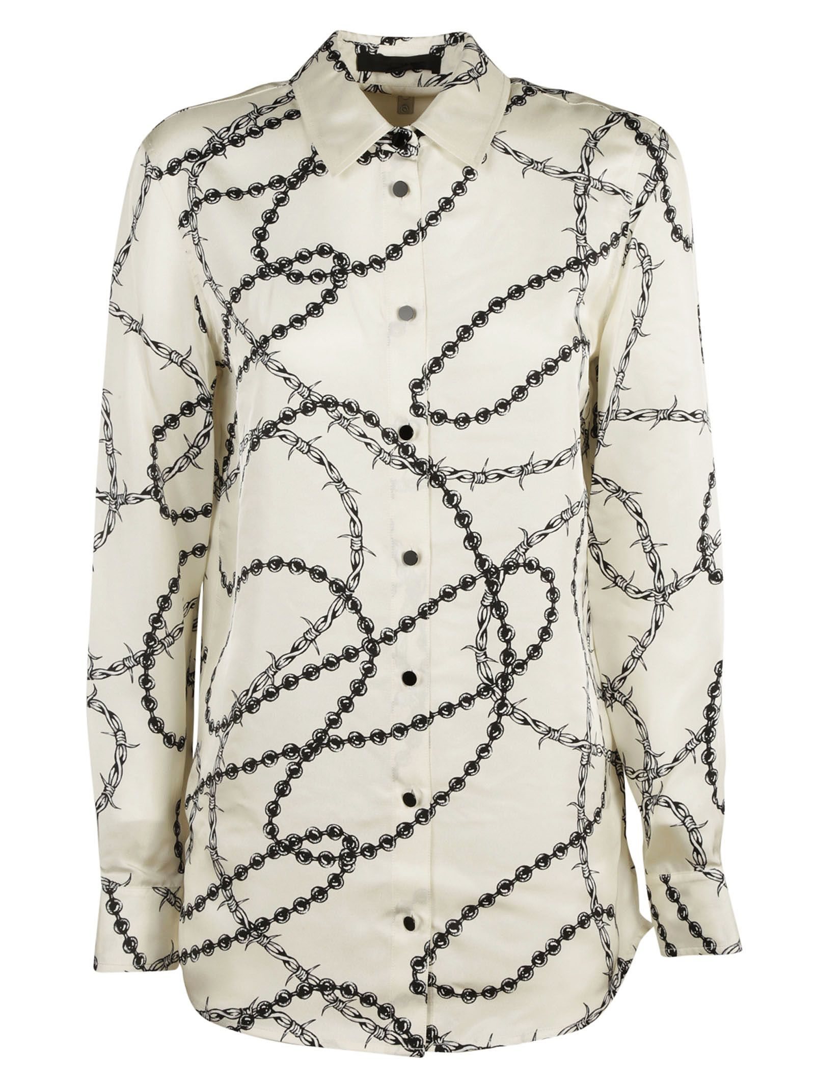 Alexander Wang - Alexander Wang Barbed Wire Print Shirt - White ...