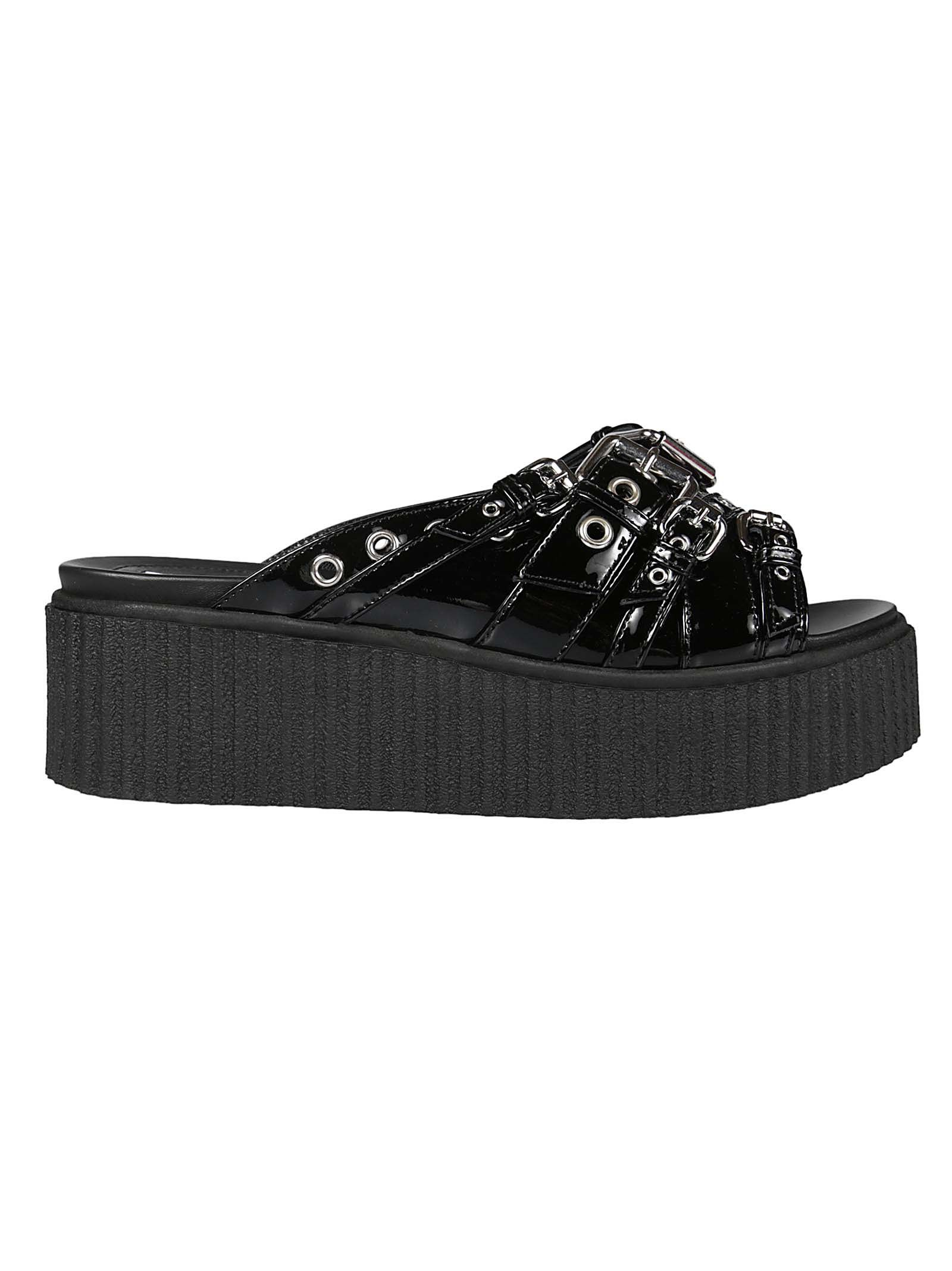 100% Guaranteed Online Alexander McQueen Dusk Eyelet Sliders Buy Online Cheap Inexpensive Clearance Official IW2kQz9