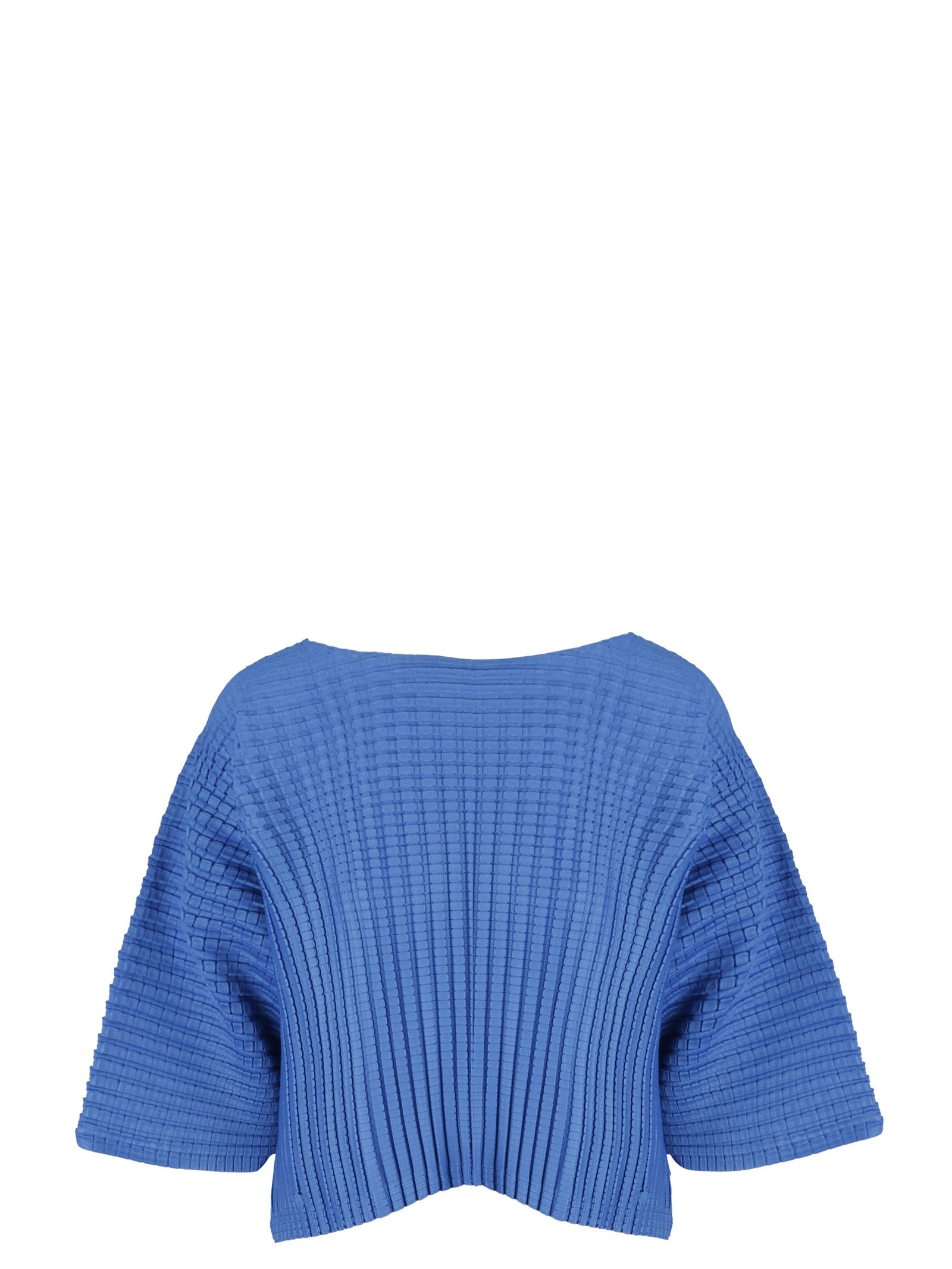 PLEATS PLEASE ISSEY MIYAKE Pleats Please By Issey Miyake Textured Top in Blue