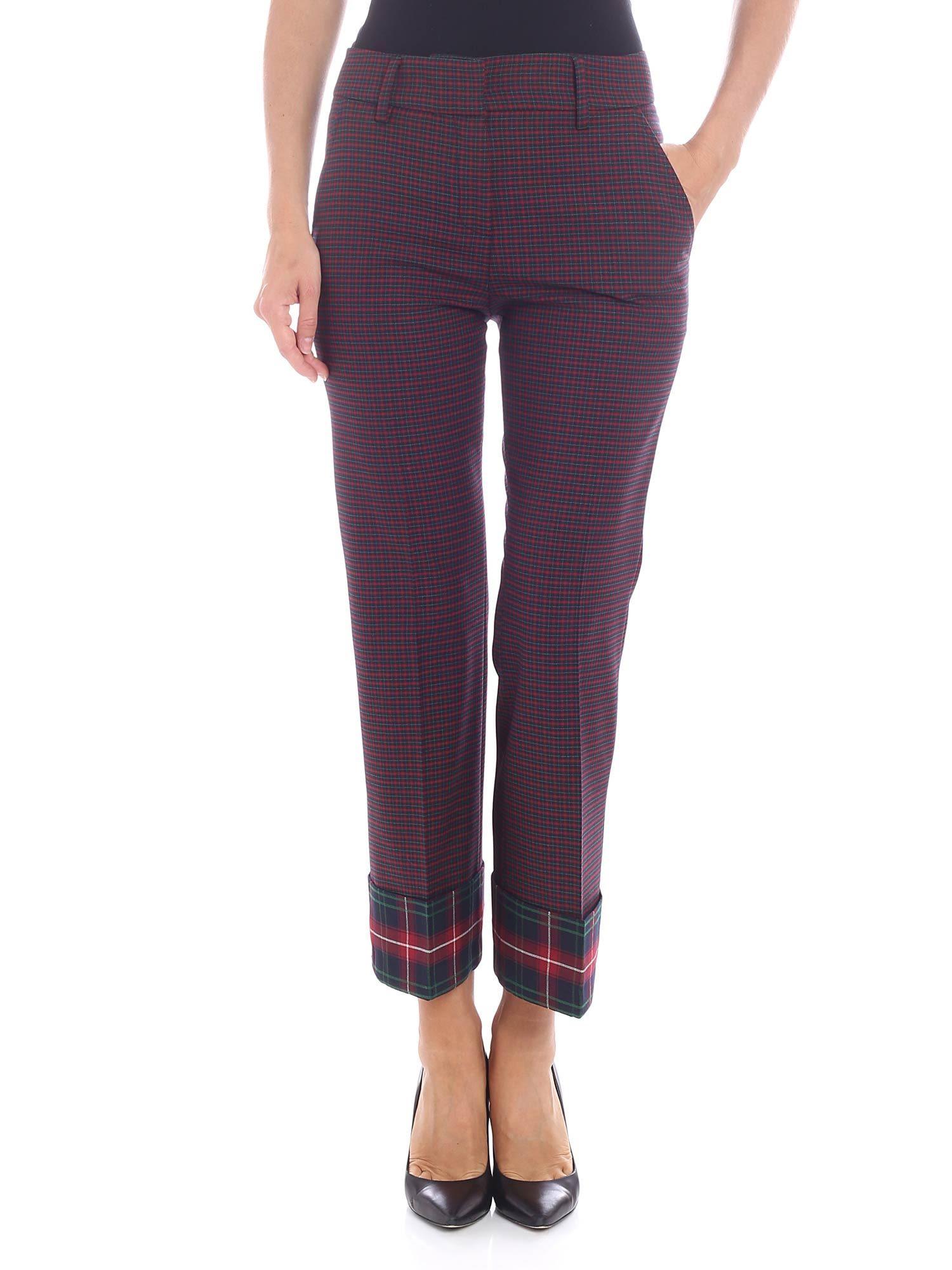 TRUE ROYAL - Mia Trousers in Scozzese