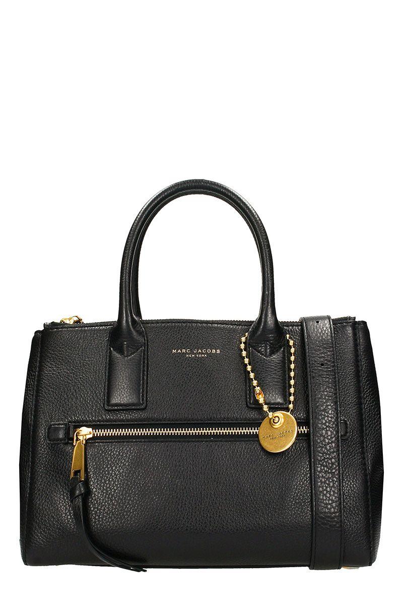 Black Leather Recruit East West Bag
