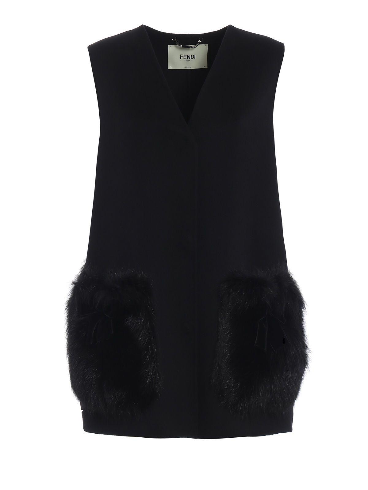 Fendi Fur-patch Tailored Coat