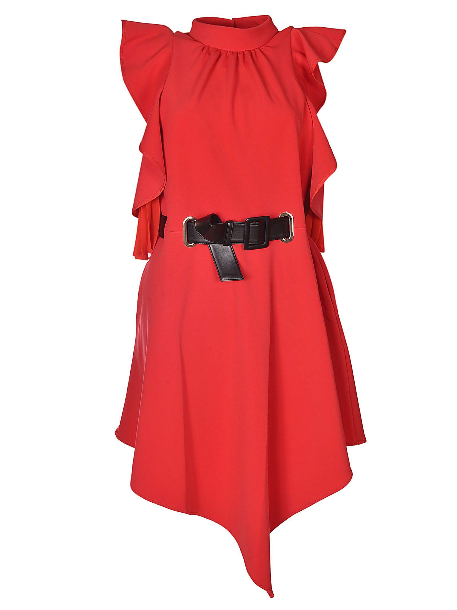 SELF-PORTRAIT ASYMMETRIC DRESS