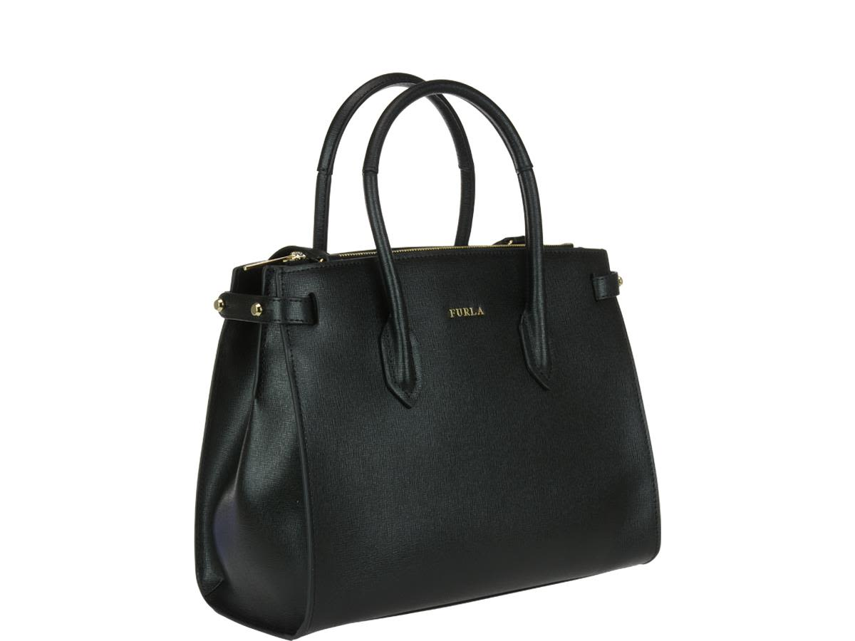 Pin M Satchel Bag in Onyx Calfskin Furla q4tqUStQ9P