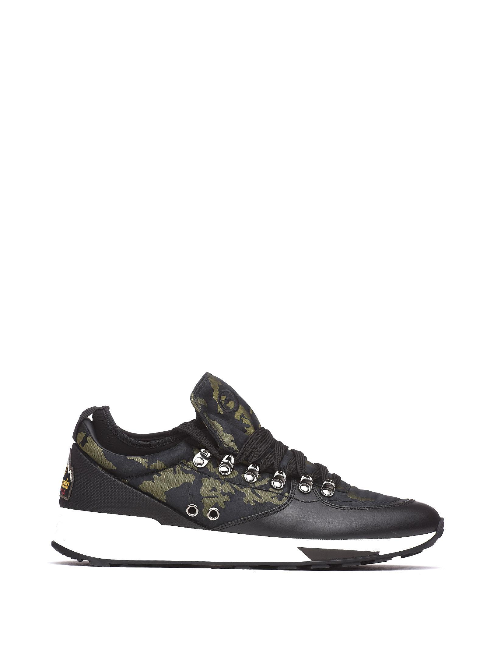 BARRACUDA Camouflage Sneakers in Nero Camouflage