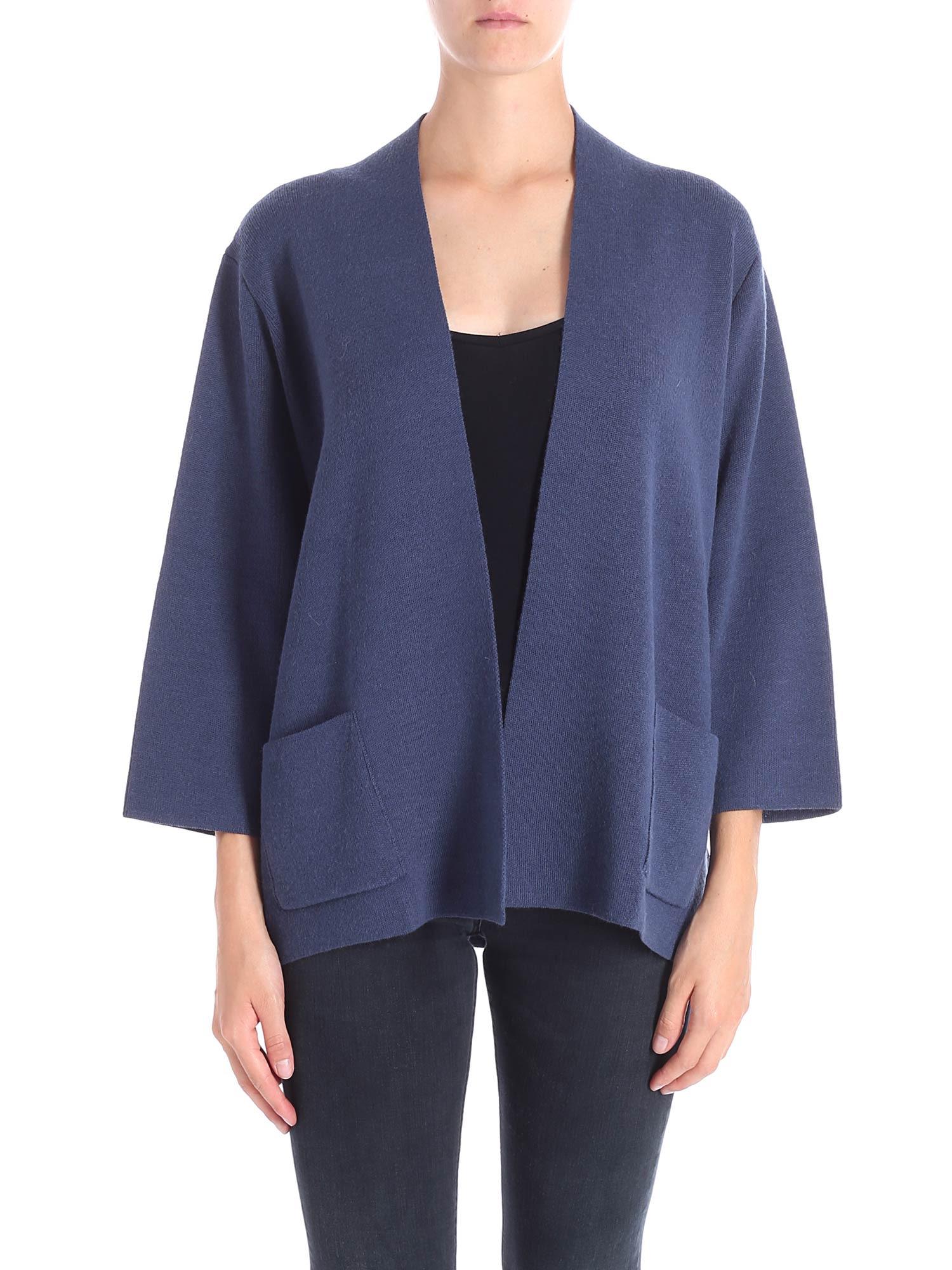 TRUSSARDI Wool Blend Jacket in Dust Blue